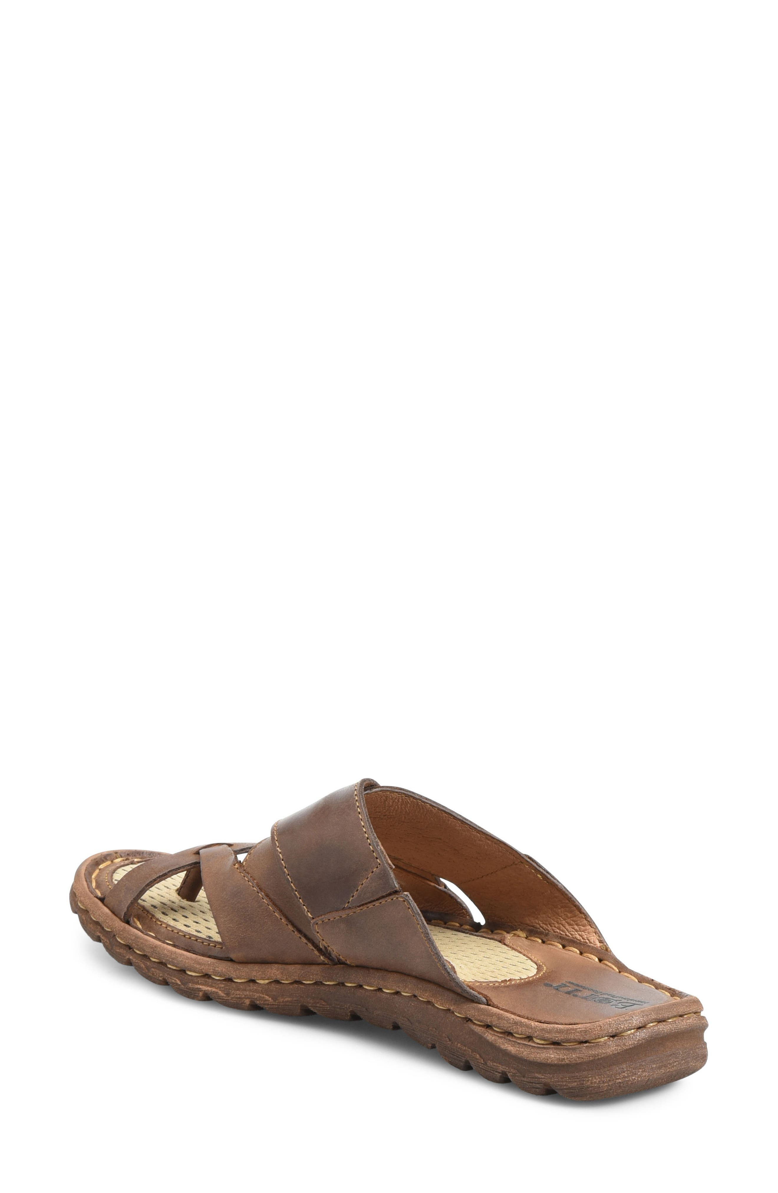 'Sorja' Leather Sandal,                             Alternate thumbnail 2, color,                             DARK BROWN LEATHER