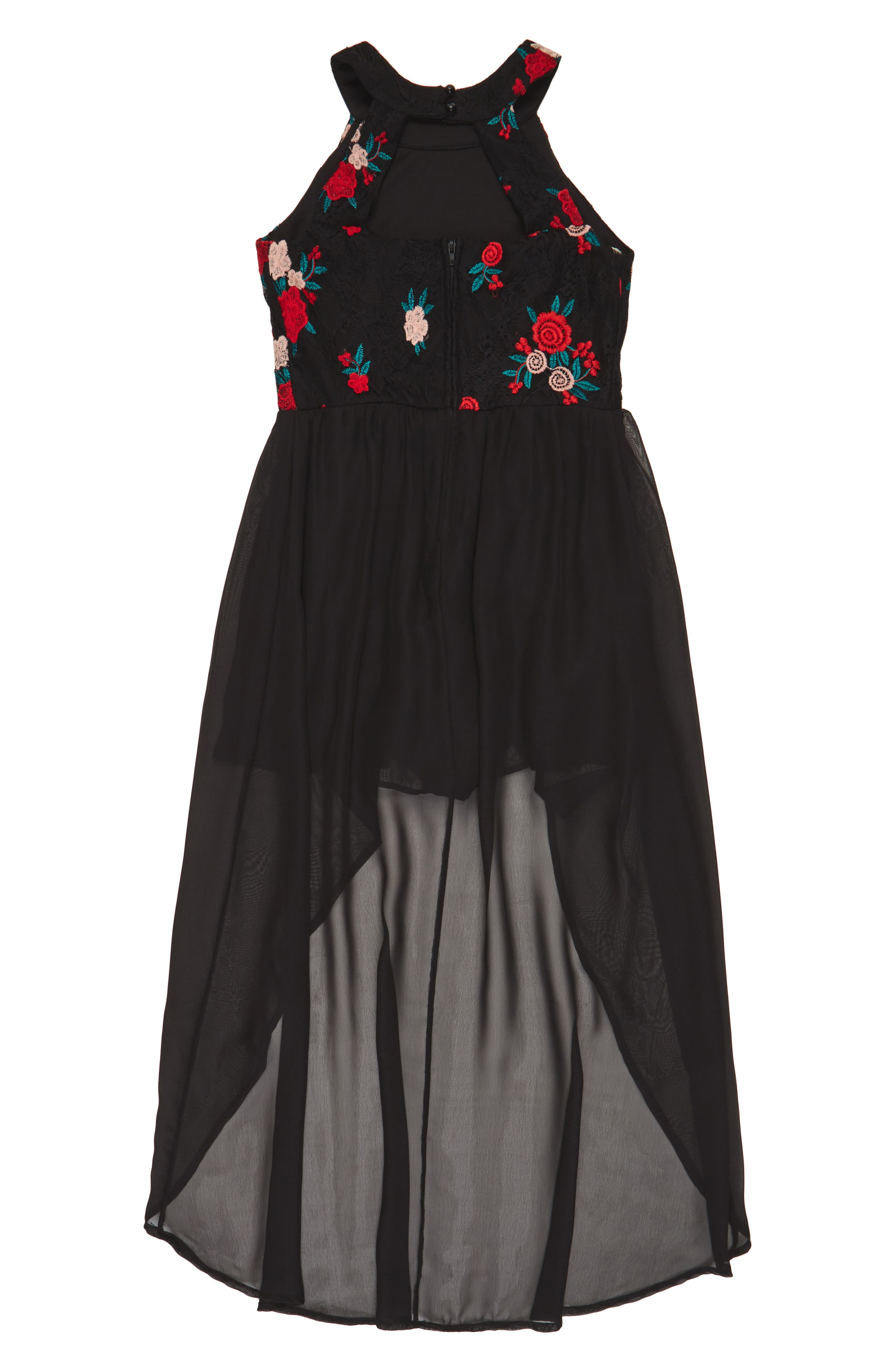 Embroidered Lace Overlay Romper,                             Alternate thumbnail 2, color,                             001