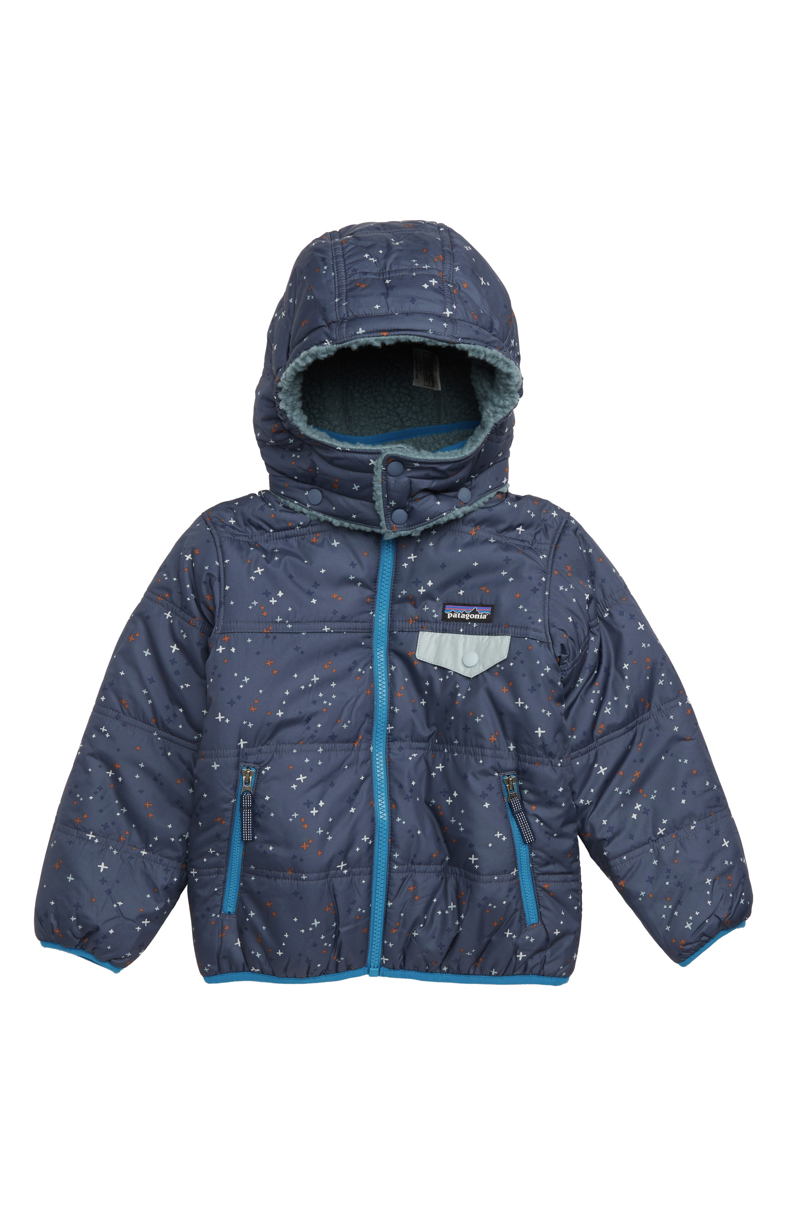 'Tribbles' Reversible Water Resistant Snow Jacket,                         Main,                         color, CSCL CROSS STITCH NAVY