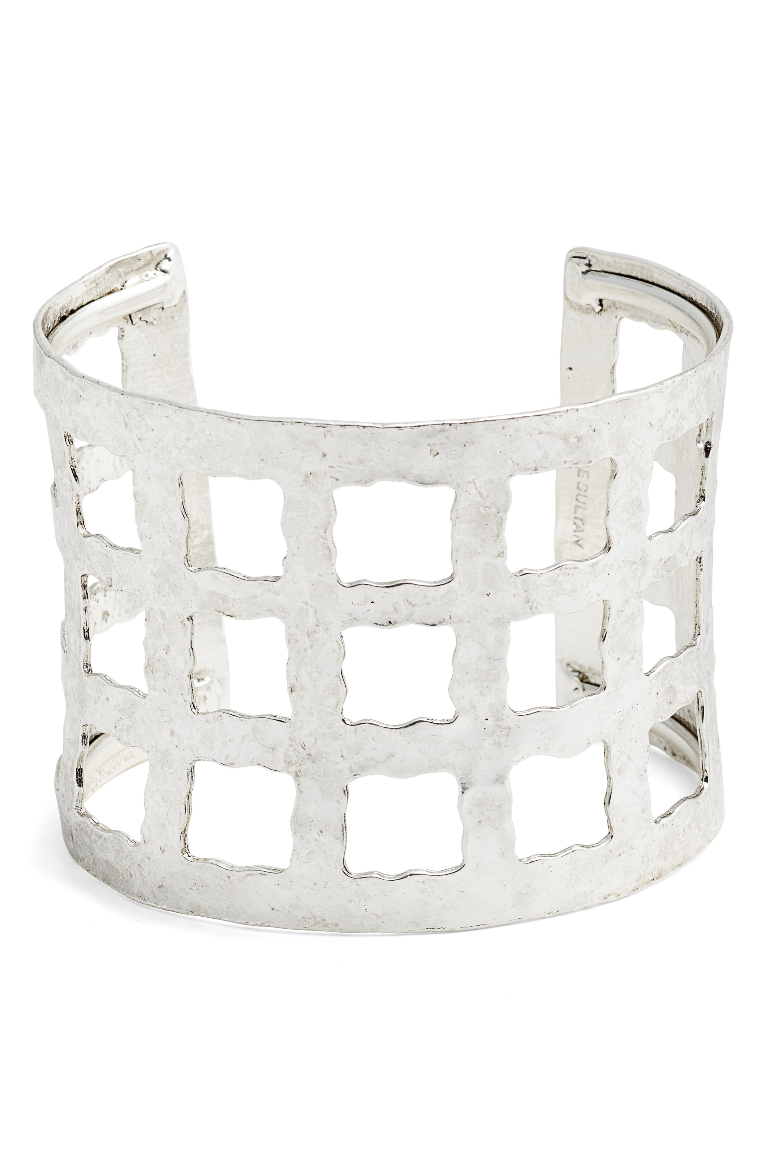 Wide Cuff,                             Main thumbnail 1, color,                             SILVER