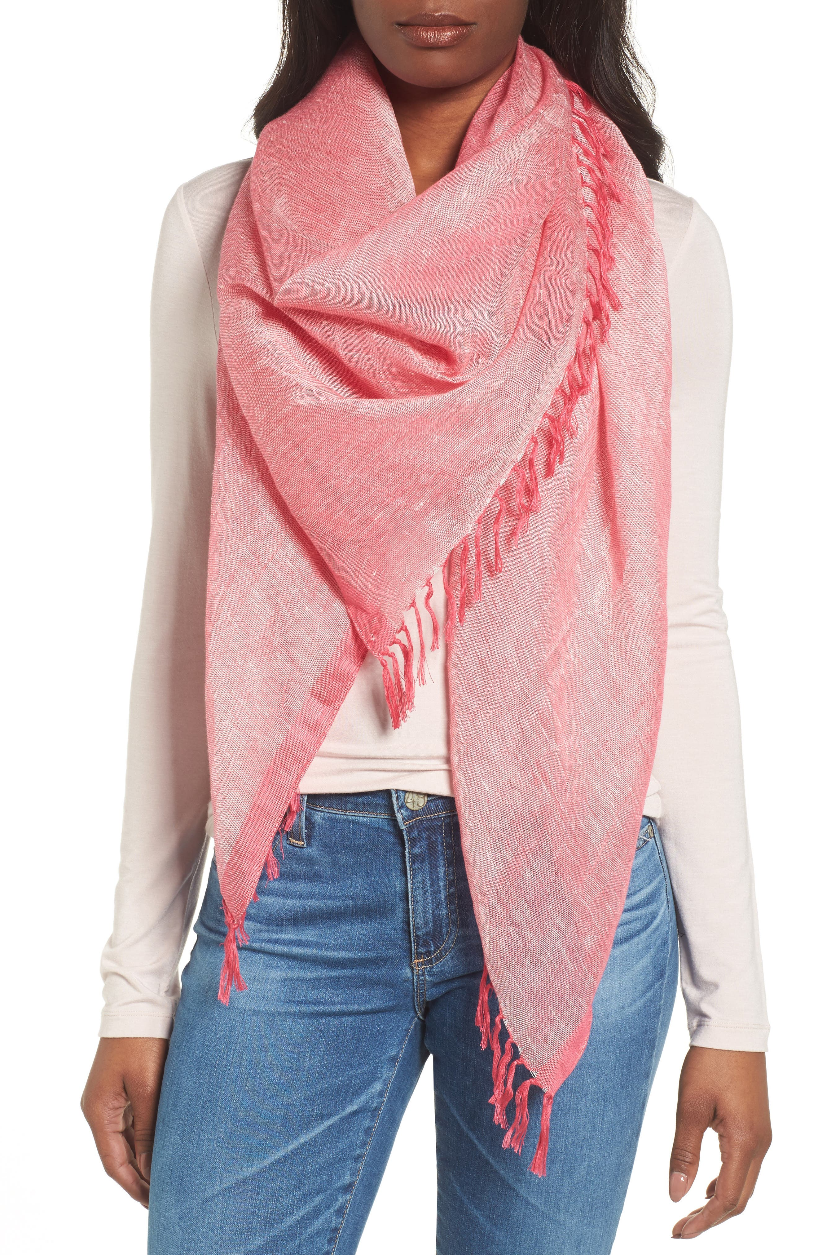 Cross Dyed Linen Blend Scarf,                             Main thumbnail 4, color,