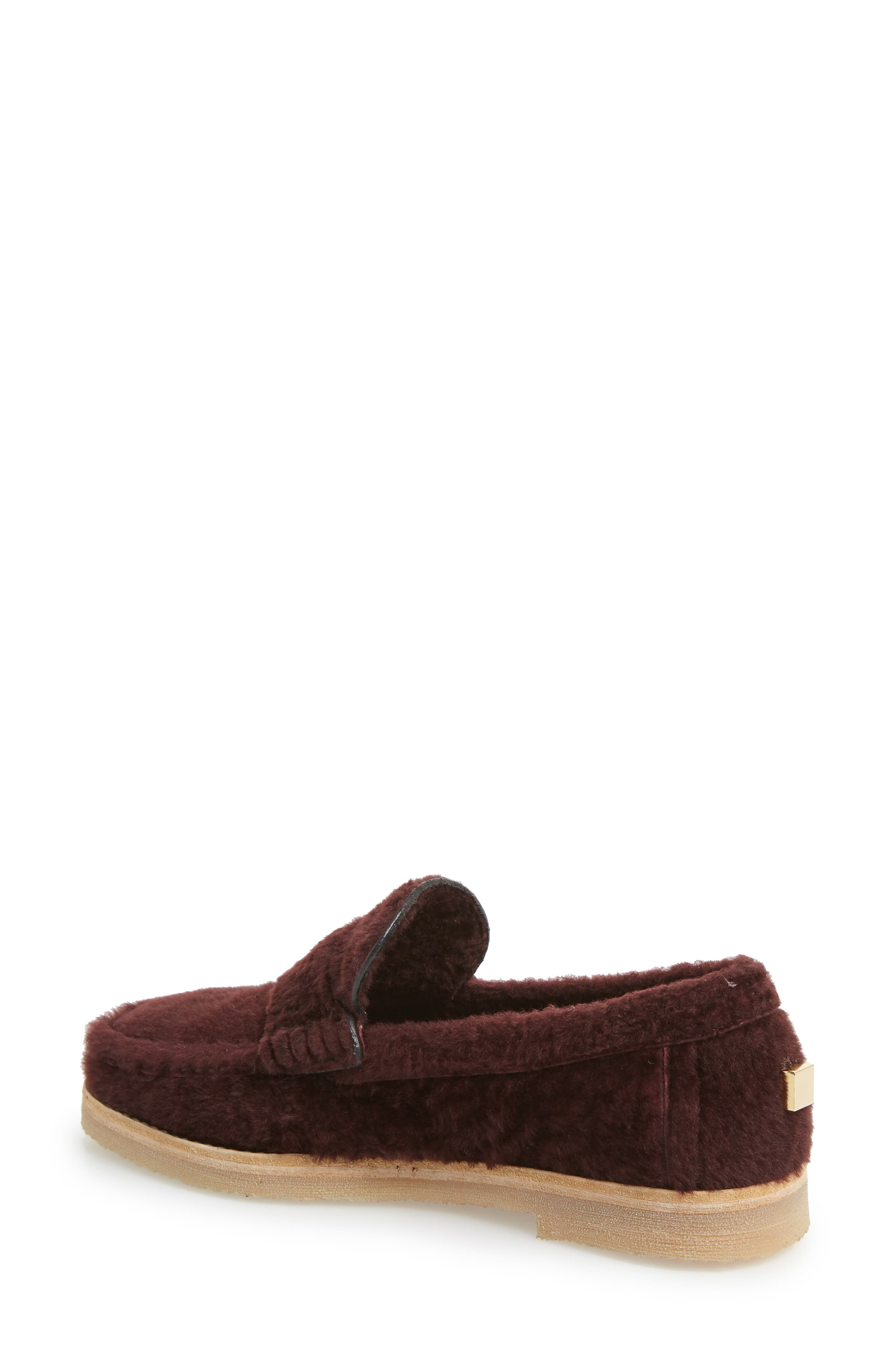 Bromley Genuine Shearling Loafer,                             Alternate thumbnail 6, color,