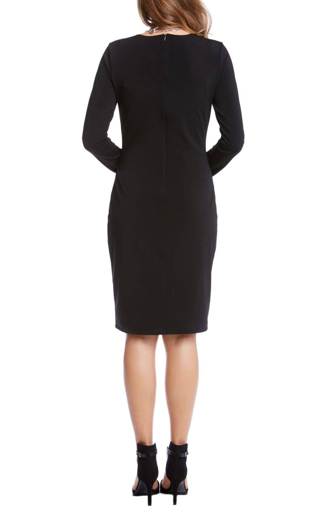 Stretch Jersey Travel Sheath Dress,                             Alternate thumbnail 2, color,                             001