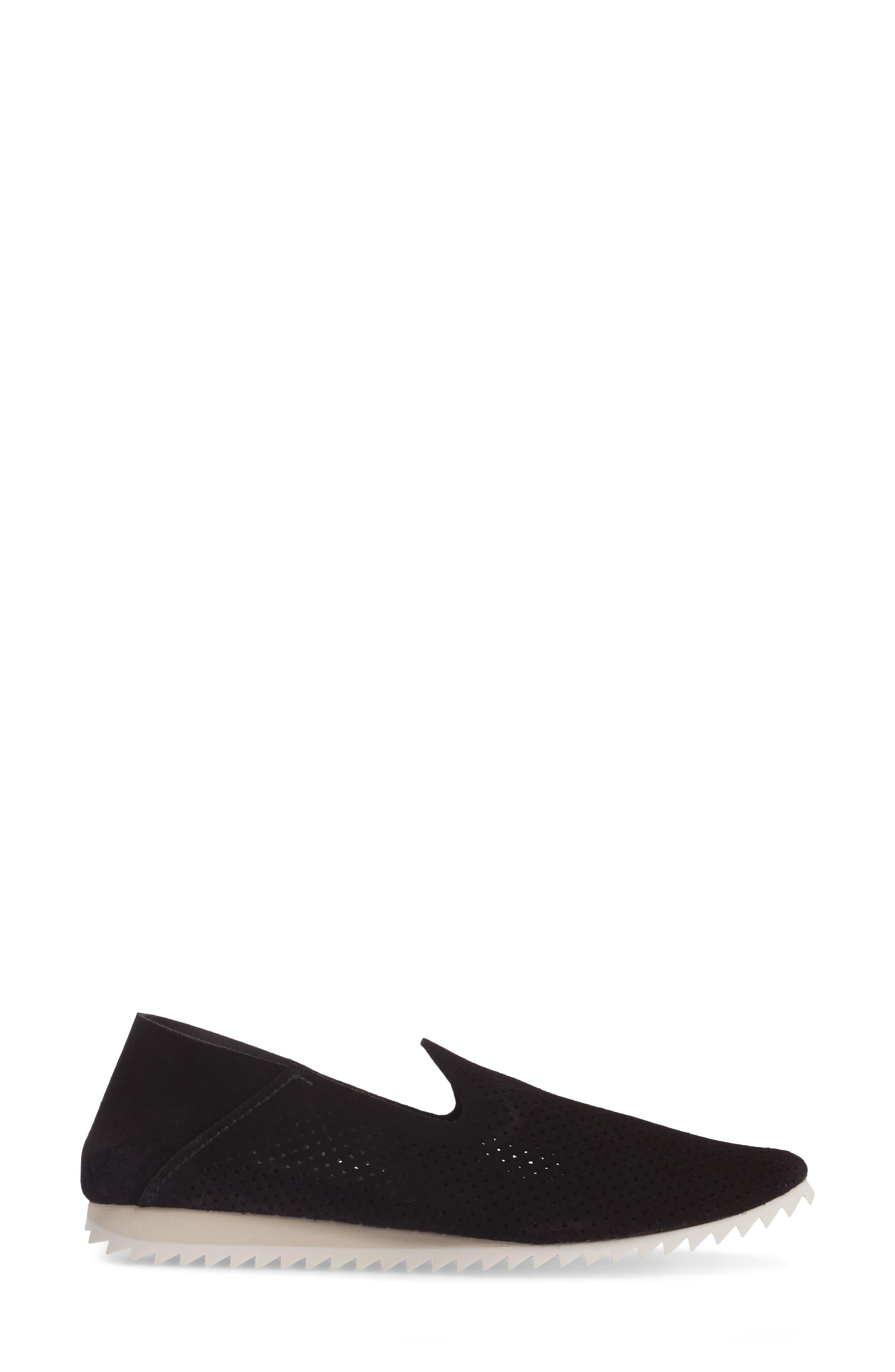 Cristiane Loafer Flat,                             Alternate thumbnail 3, color,                             BLACK CASTORO