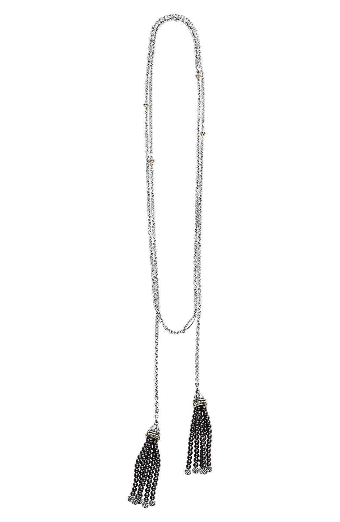 'Caviar Icon' Lariat Necklace,                             Alternate thumbnail 2, color,                             001