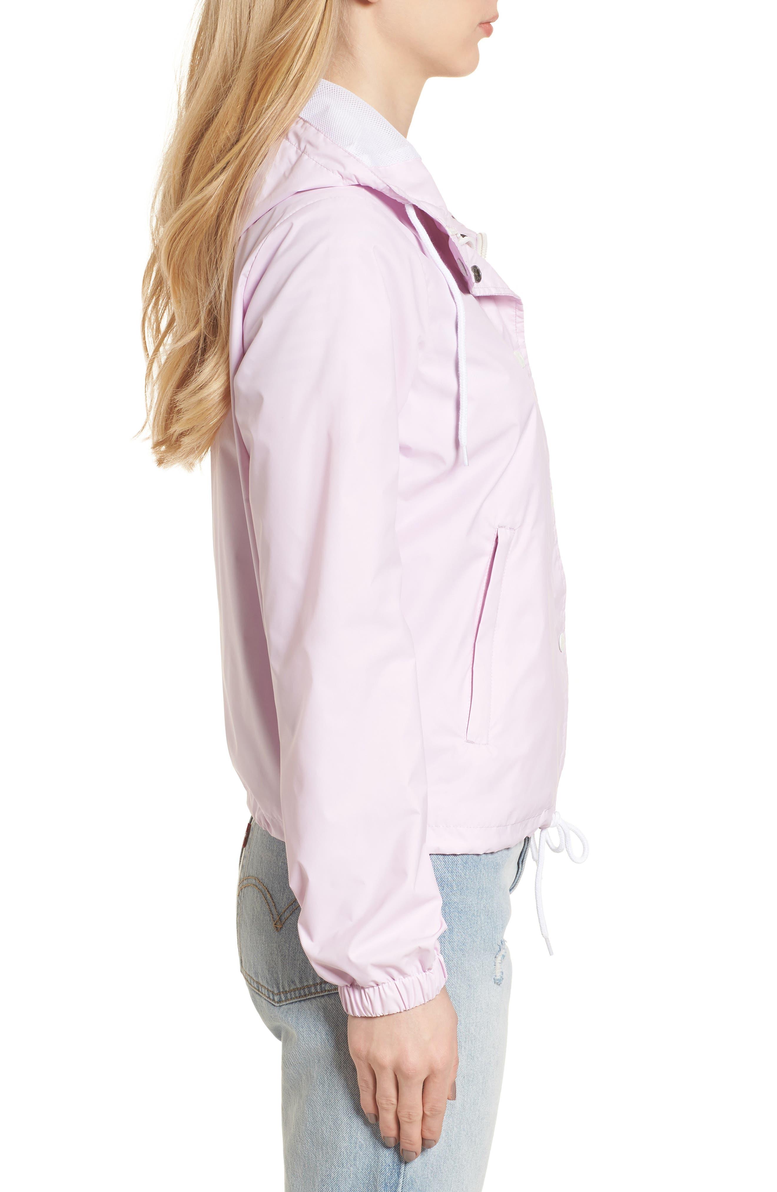 Retro Hooded Coach's Jacket,                             Alternate thumbnail 16, color,