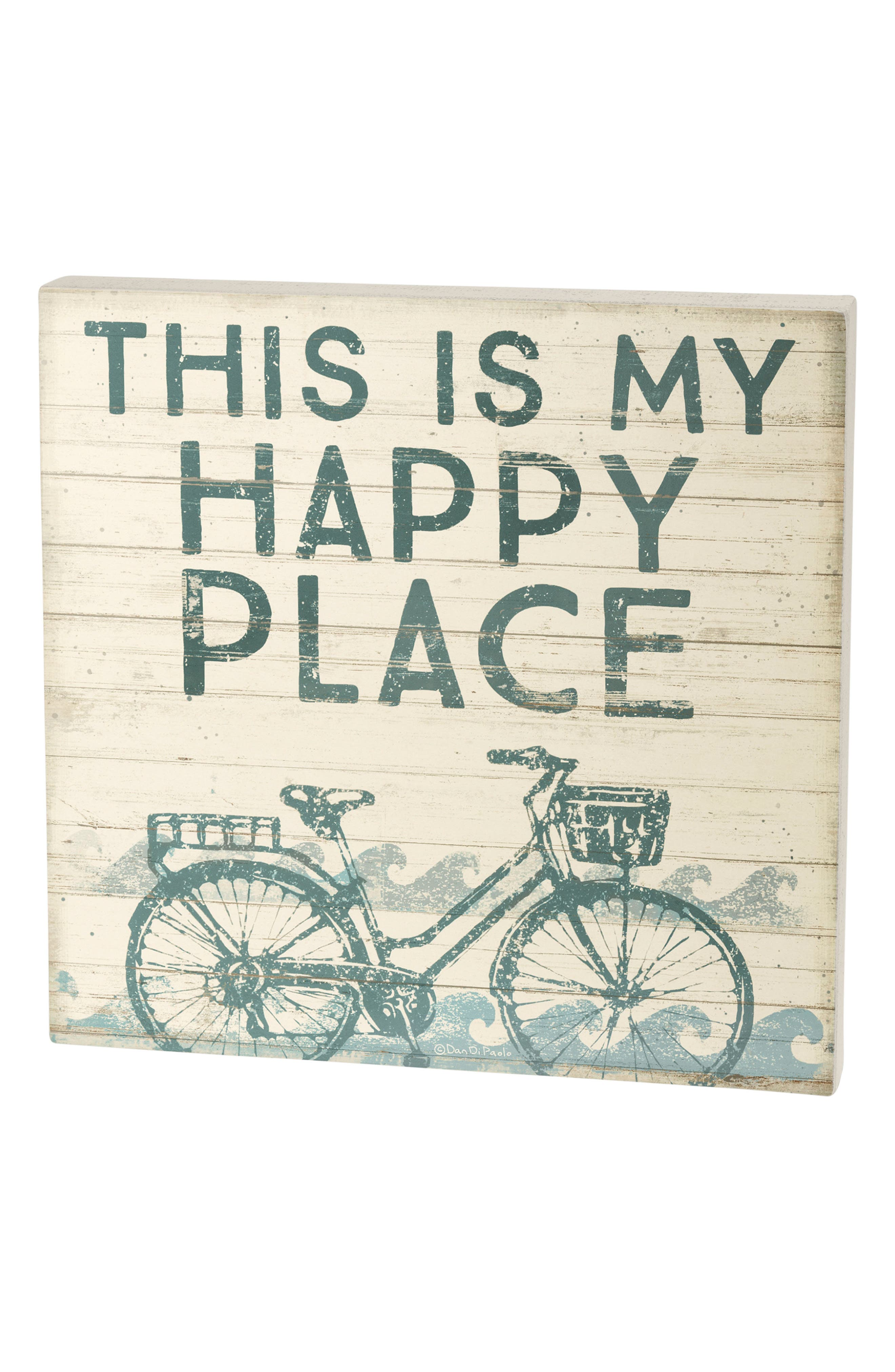 Happy Place Box Sign,                             Main thumbnail 1, color,                             400