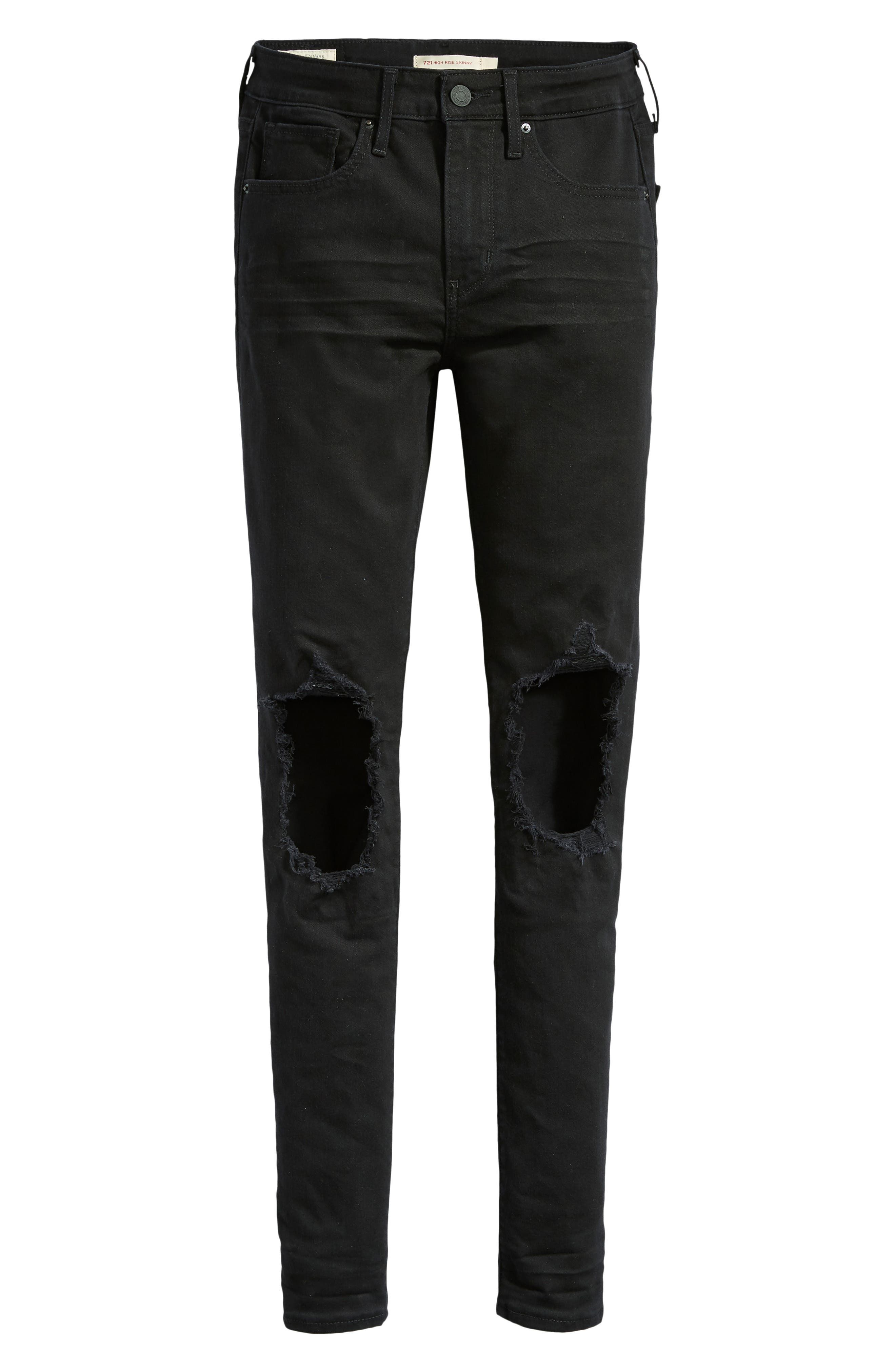 721<sup>™</sup> Ripped High Waist Skinny Jeans,                             Alternate thumbnail 4, color,                             LOOKER