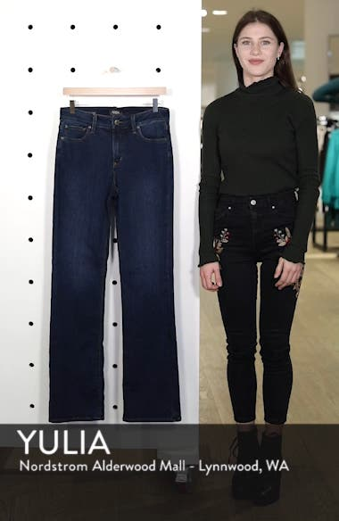 Barbara High Waist Stretch Bootcut Jeans, sales video thumbnail