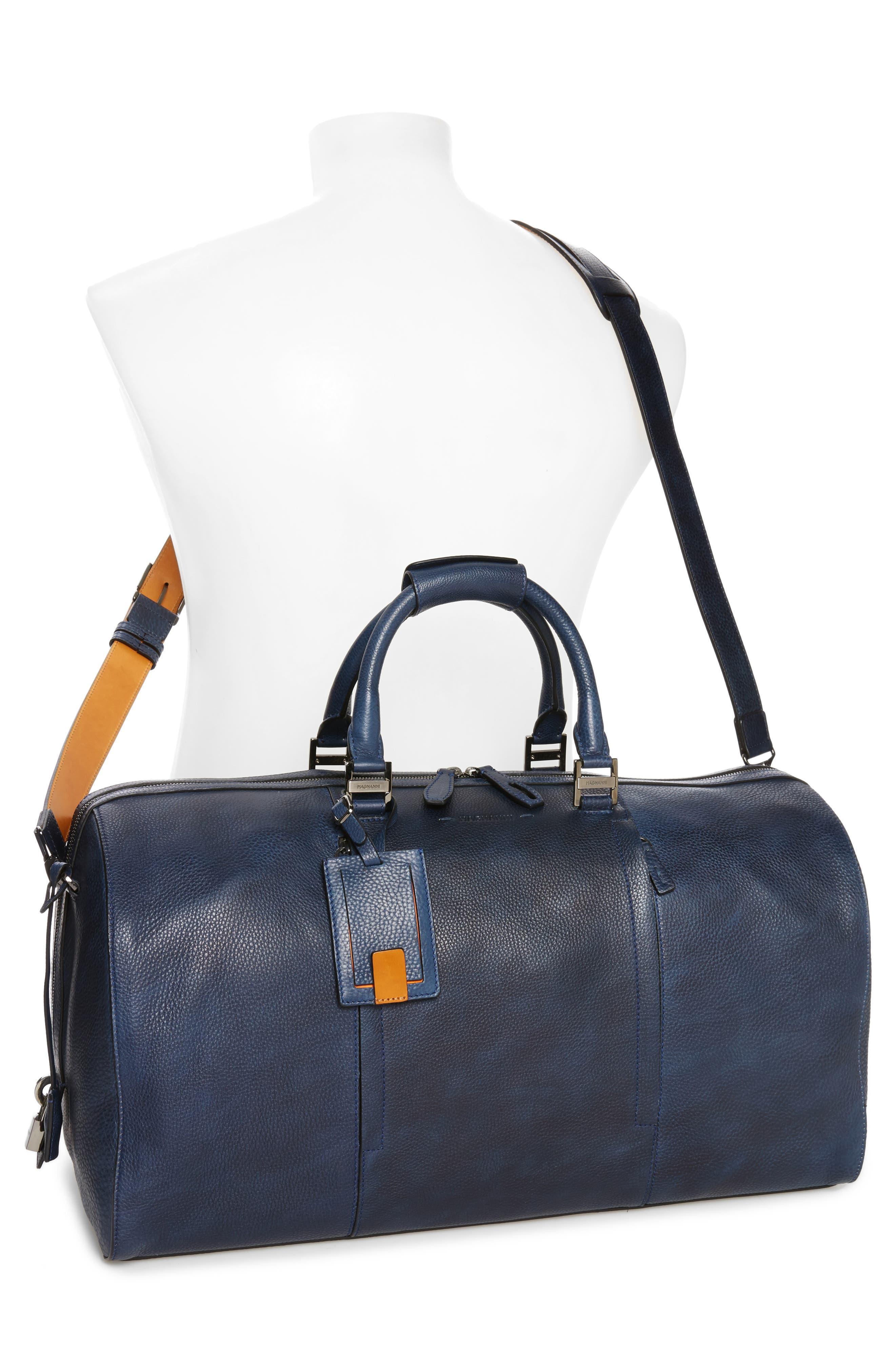 Traveler Leather Duffel Bag,                             Alternate thumbnail 8, color,