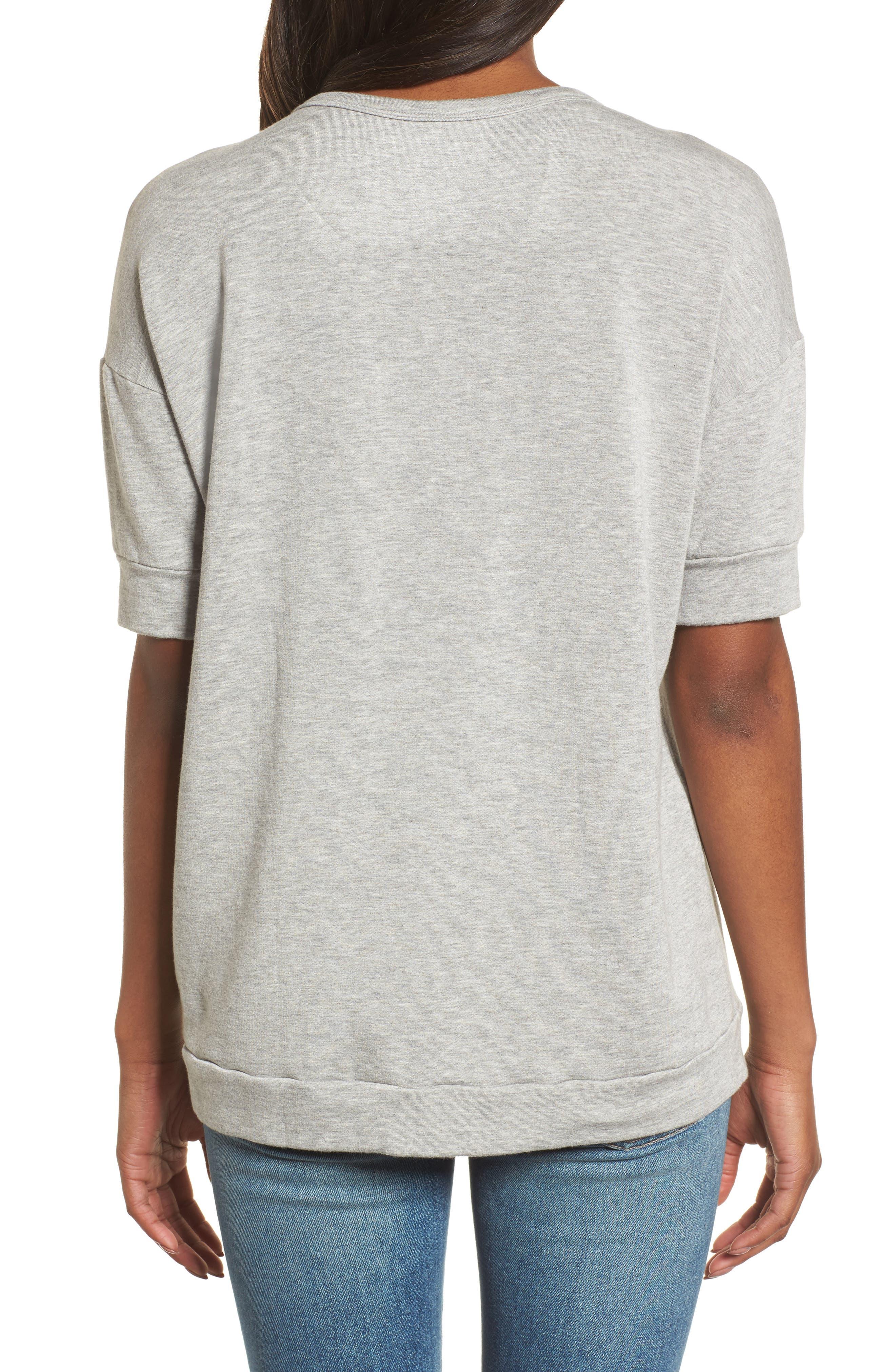 Short Sleeve Sweatshirt,                             Alternate thumbnail 2, color,                             050