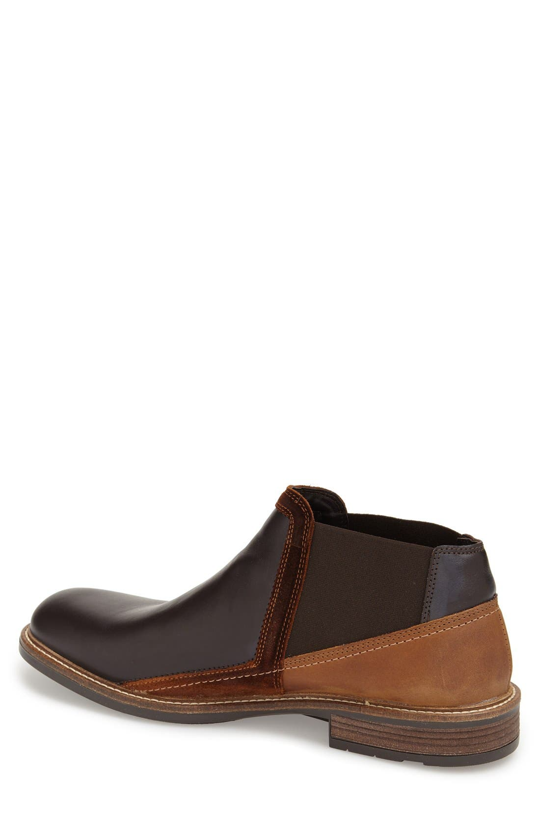 Business Chelsea Boot,                             Alternate thumbnail 2, color,                             ROAST/SADDLE/ SEAL BROWN SUEDE