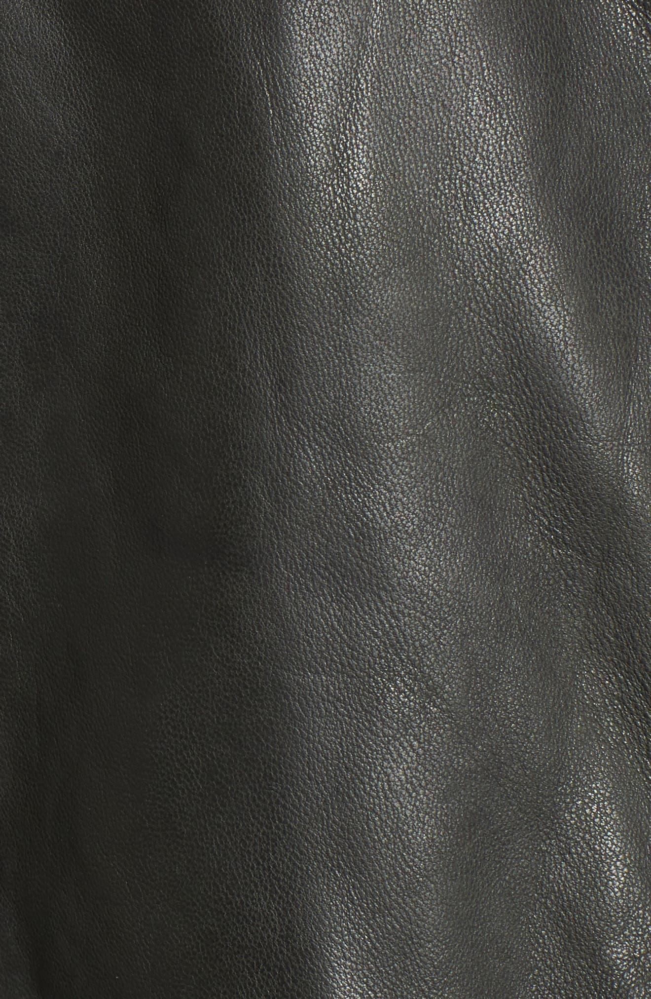Double Zip Moto Jacket,                             Alternate thumbnail 6, color,