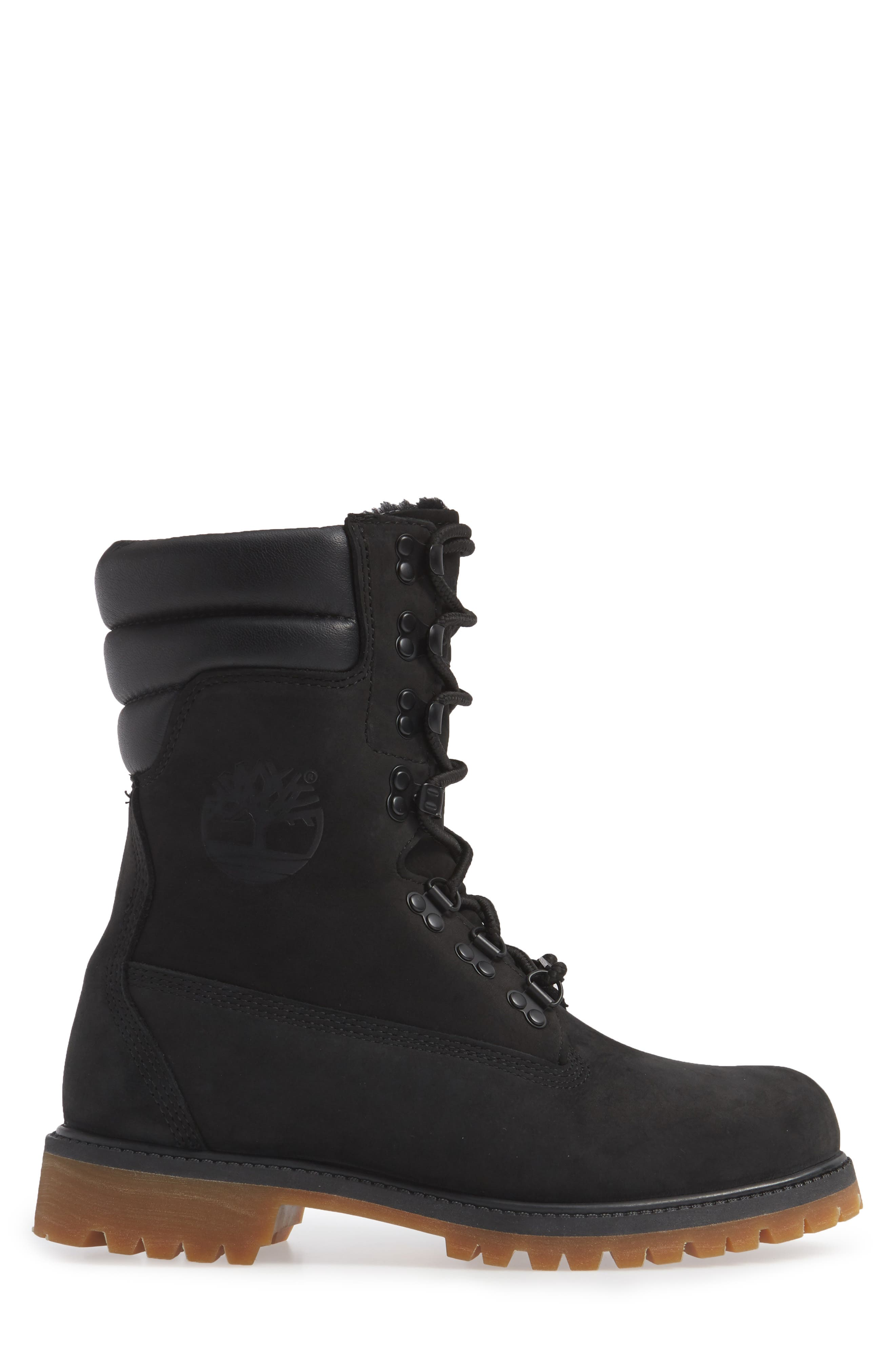 TIMBERLAND,                             Level 0 Super Boot,                             Alternate thumbnail 3, color,                             BLACK LEATHER