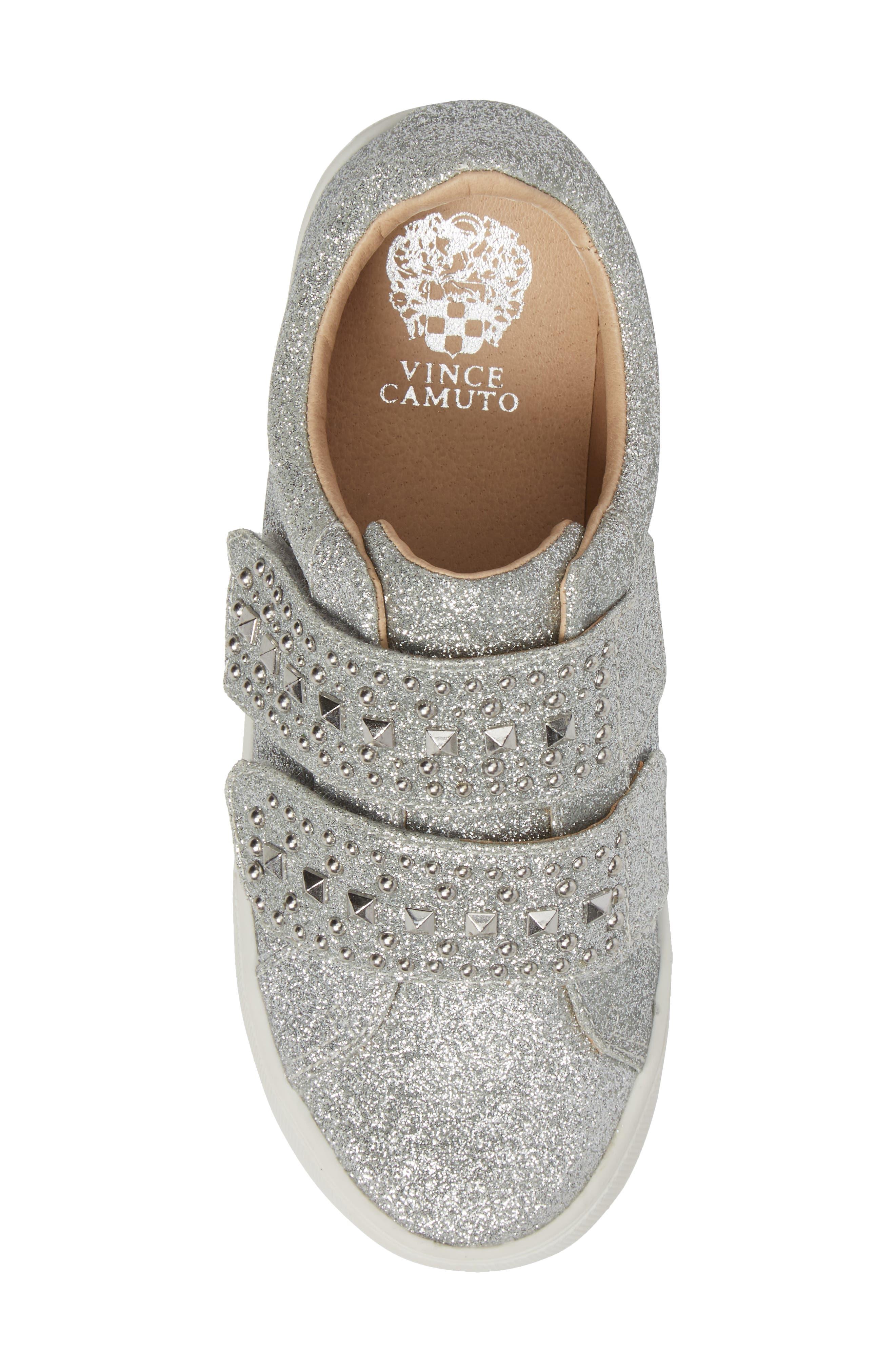 Baylen Embellished Glitter Sneaker,                             Alternate thumbnail 5, color,                             SILVER GLITTER