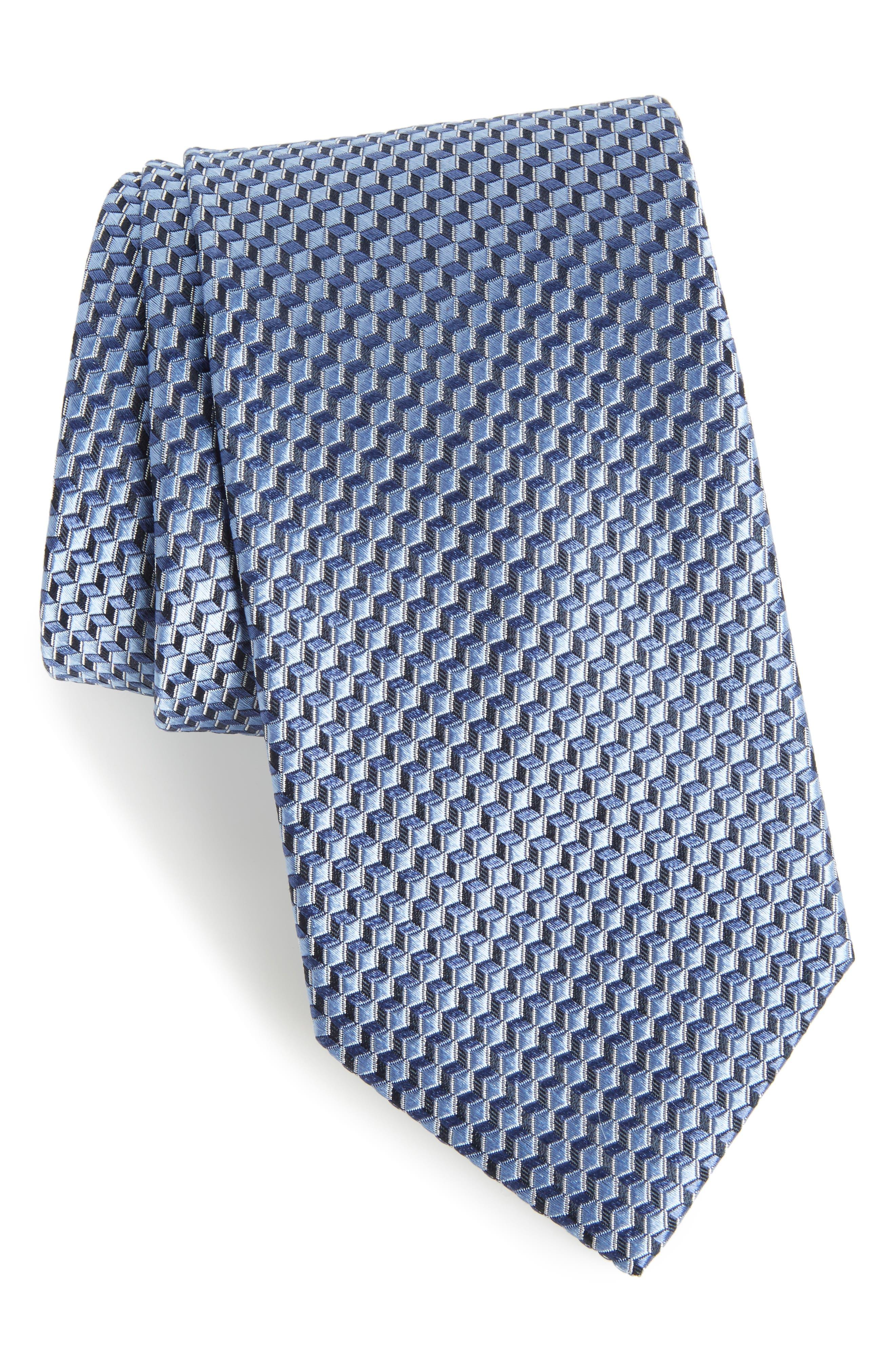 Doria Geometric Silk Tie,                             Main thumbnail 2, color,