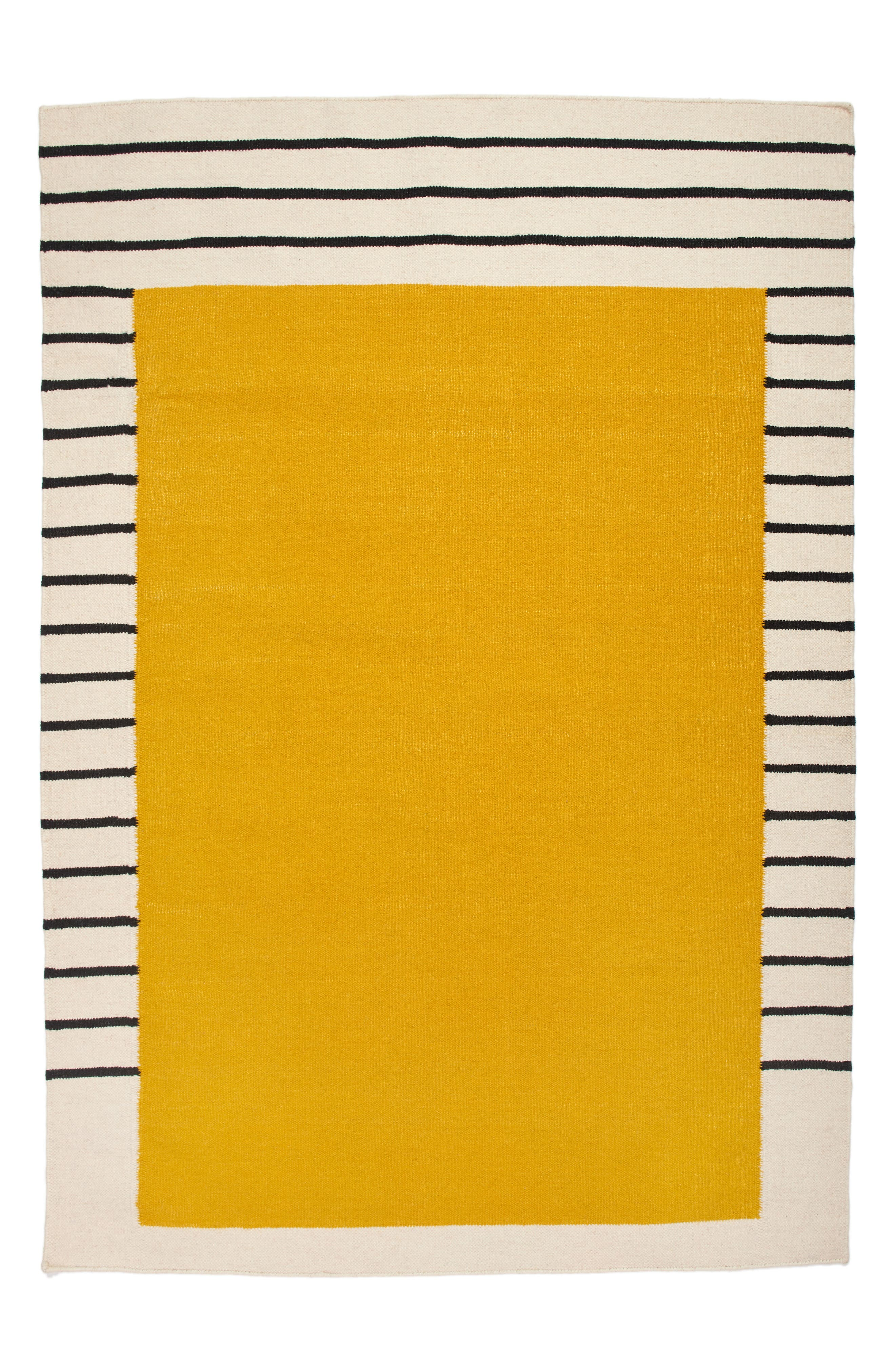 Suzanne Flat Weave Rug,                         Main,                         color, YELLOW