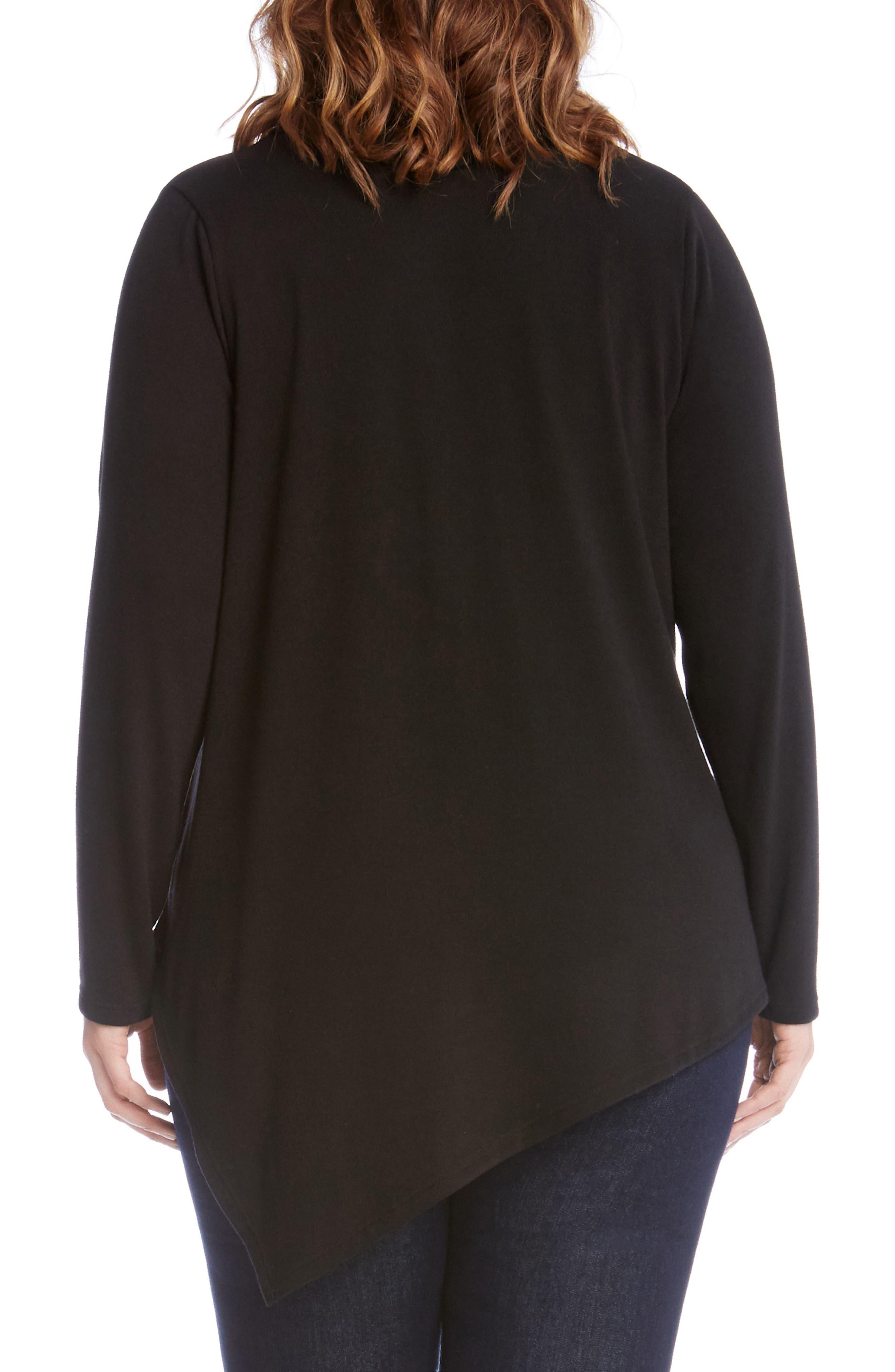 Asymmetrical Hem Sweater,                             Alternate thumbnail 2, color,                             001