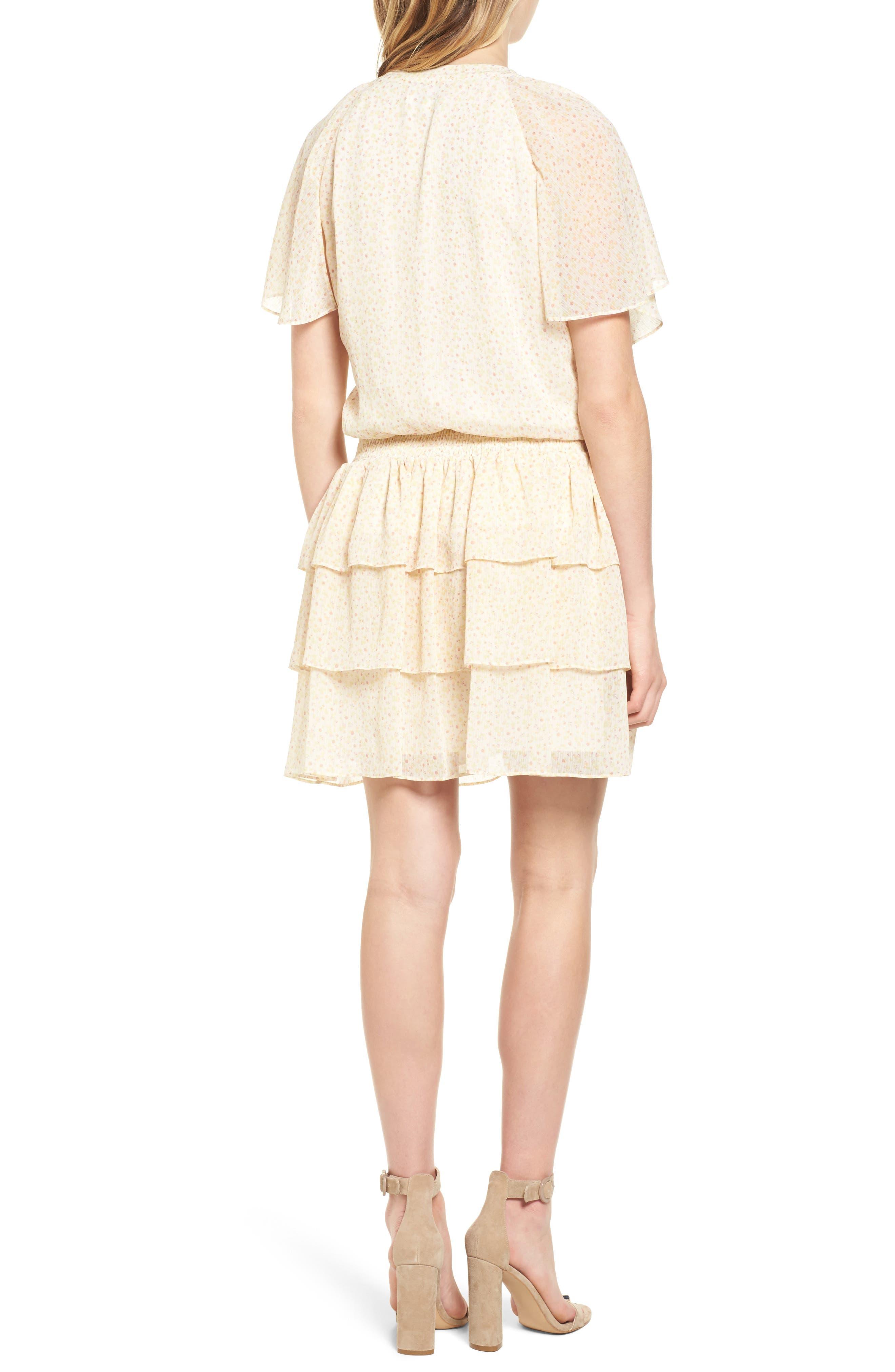 Pebble Blouson Minidress,                             Alternate thumbnail 2, color,