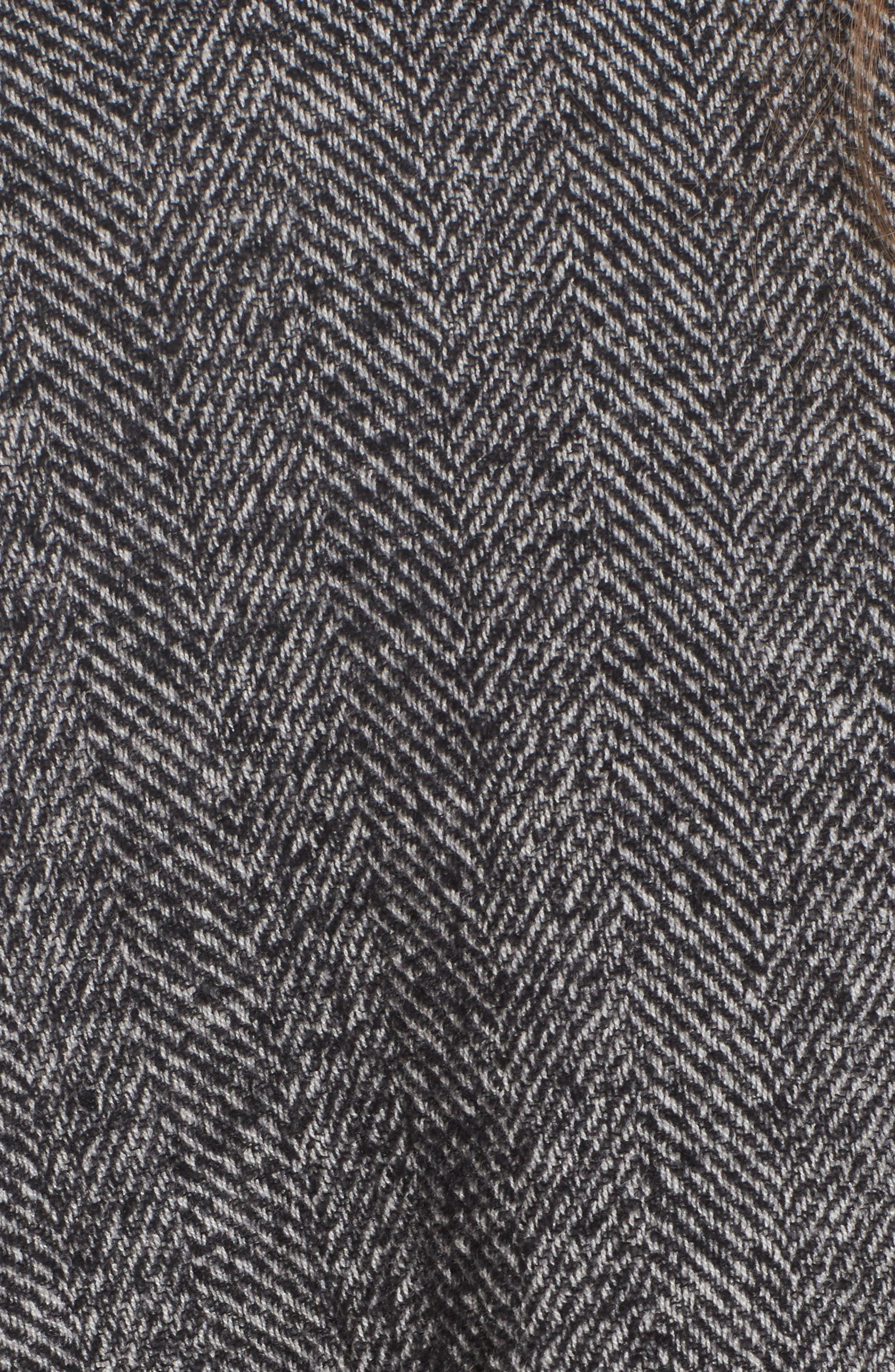 Herringbone Cashmere & Wool Cape,                             Alternate thumbnail 5, color,                             020