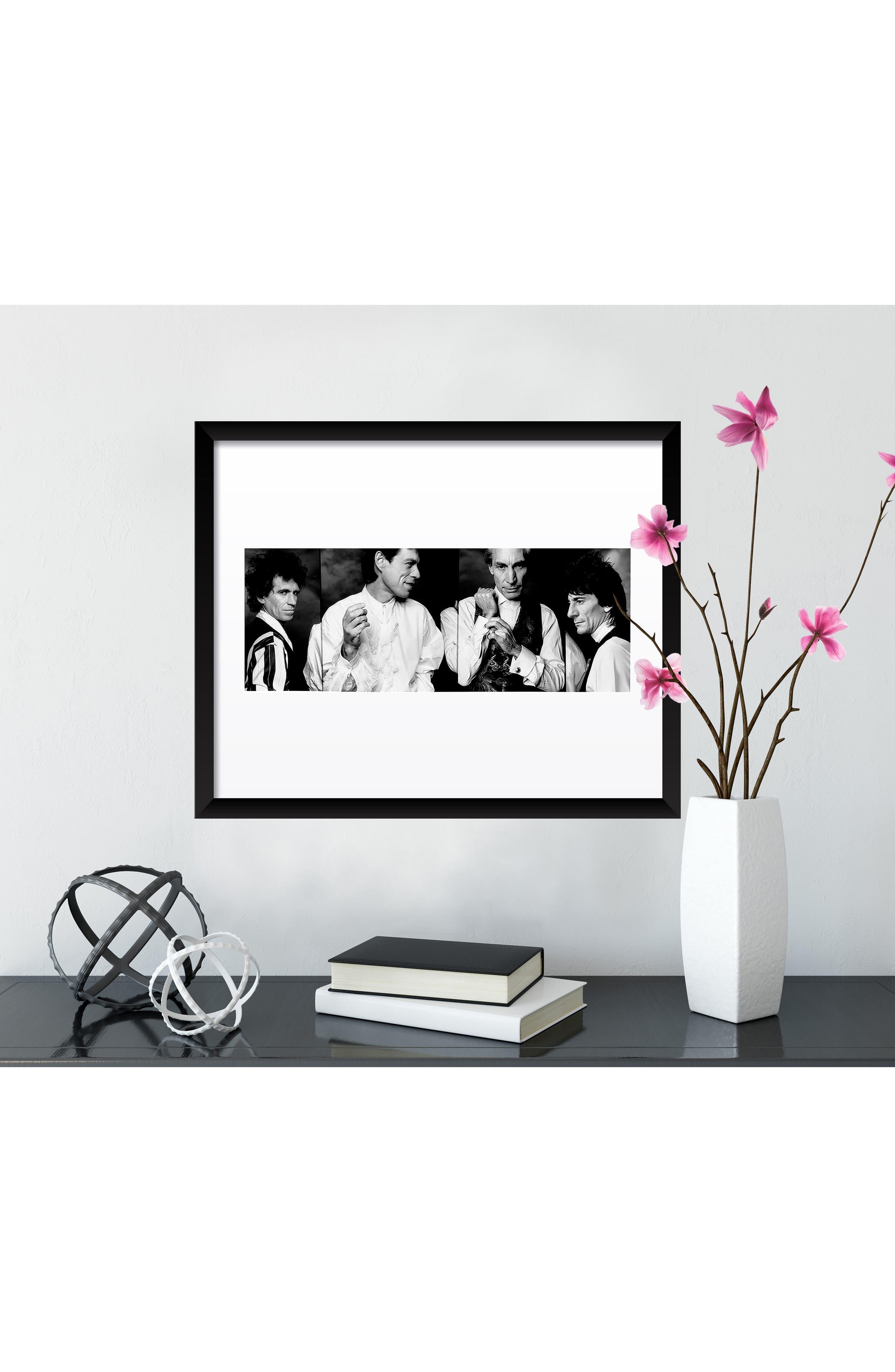 The Rolling Stones Fine Art Print,                             Alternate thumbnail 3, color,                             BLACK