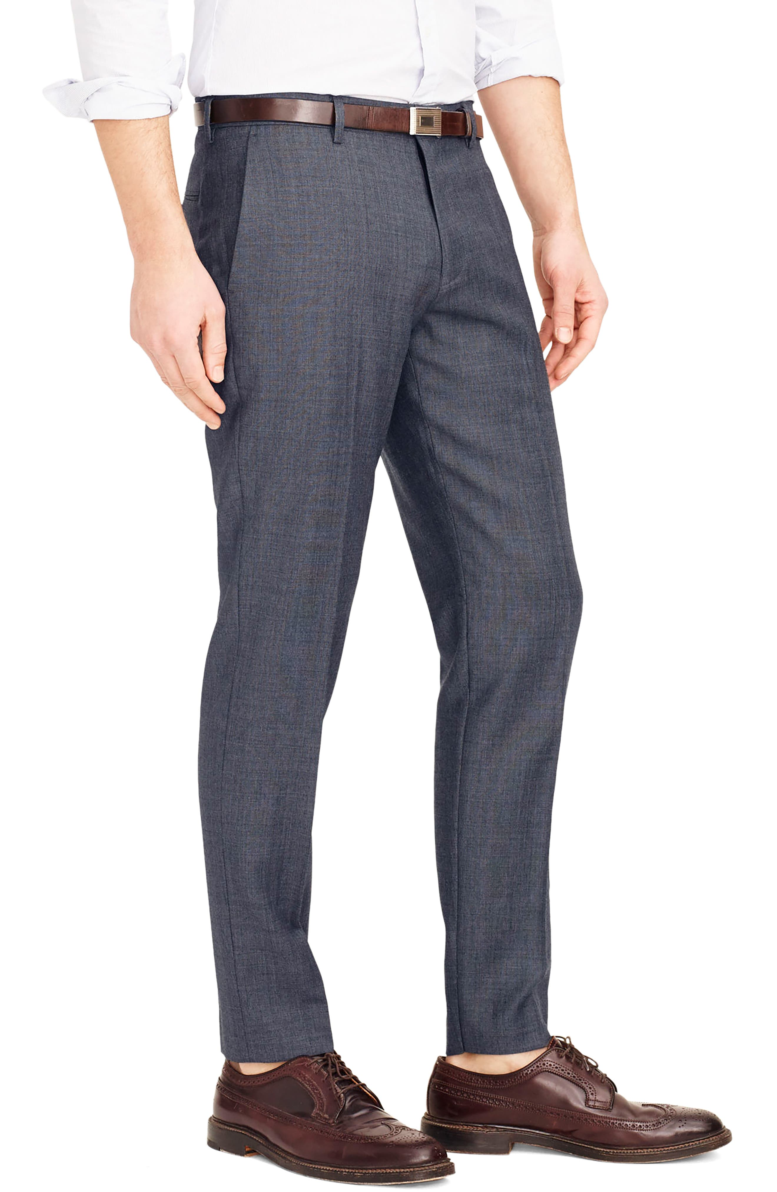 Ludlow Flat Front Solid Wool Trousers,                             Alternate thumbnail 19, color,