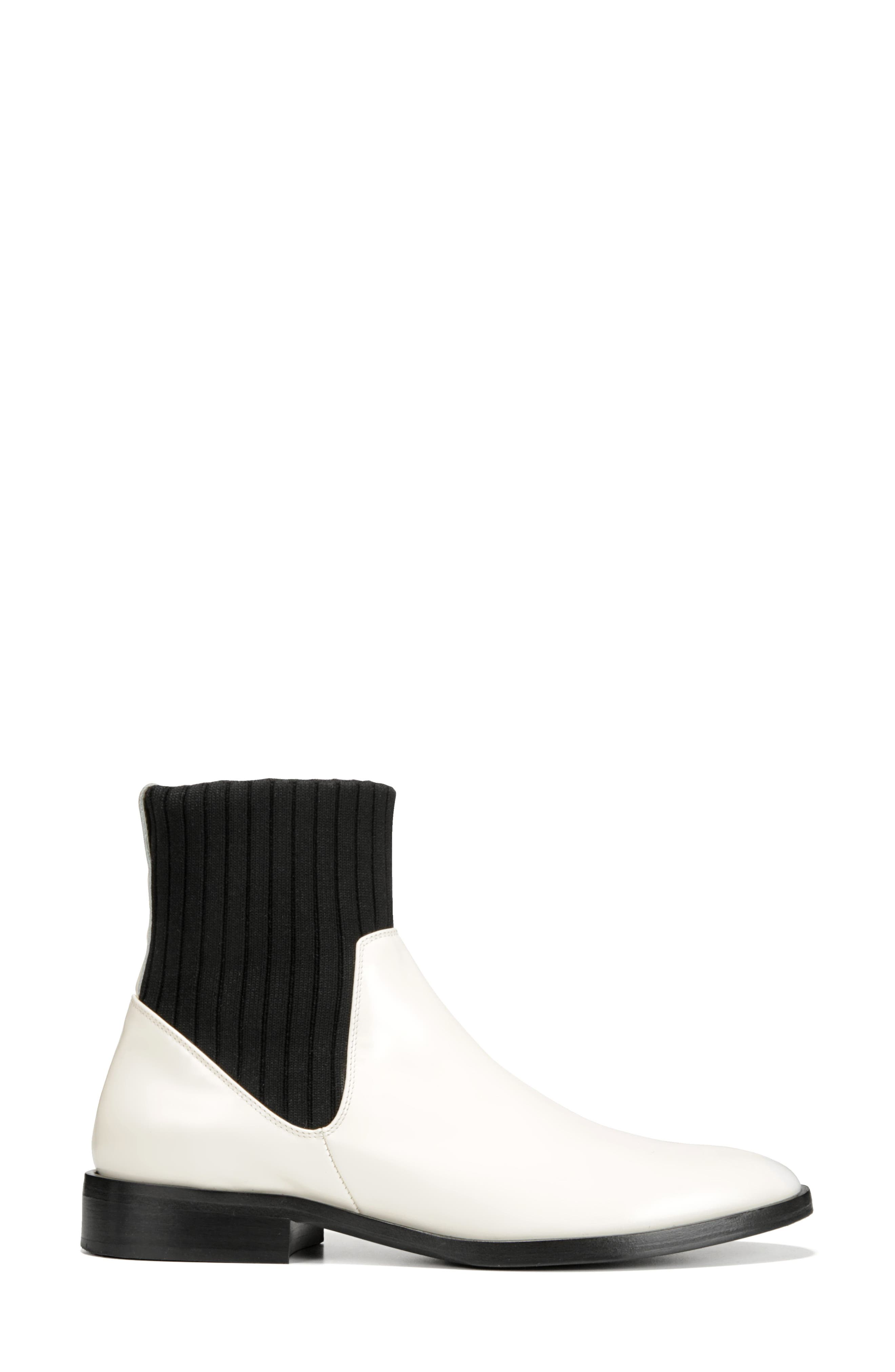 Perlow Sock Bootie,                             Alternate thumbnail 2, color,                             WHITE