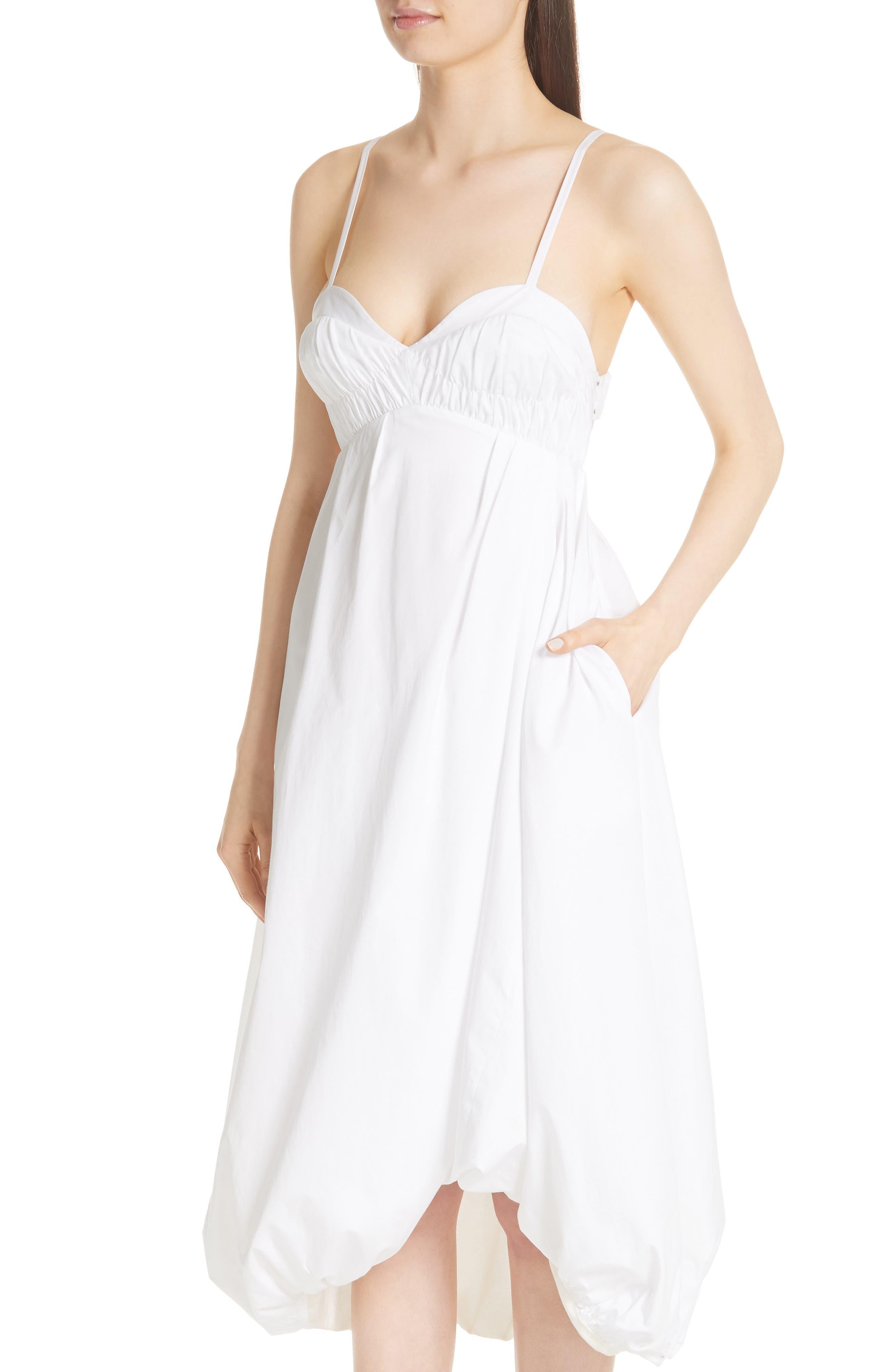 Bubble Hem Dress,                             Alternate thumbnail 4, color,                             400