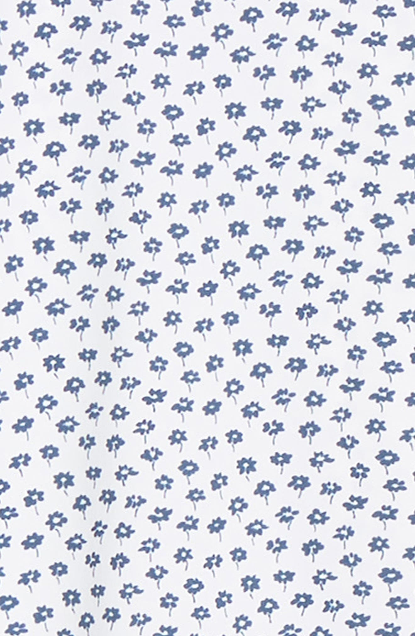 Slim Fit Floral Tech Sport Shirt,                             Alternate thumbnail 6, color,                             FLORAL STAMP - PEACOCK