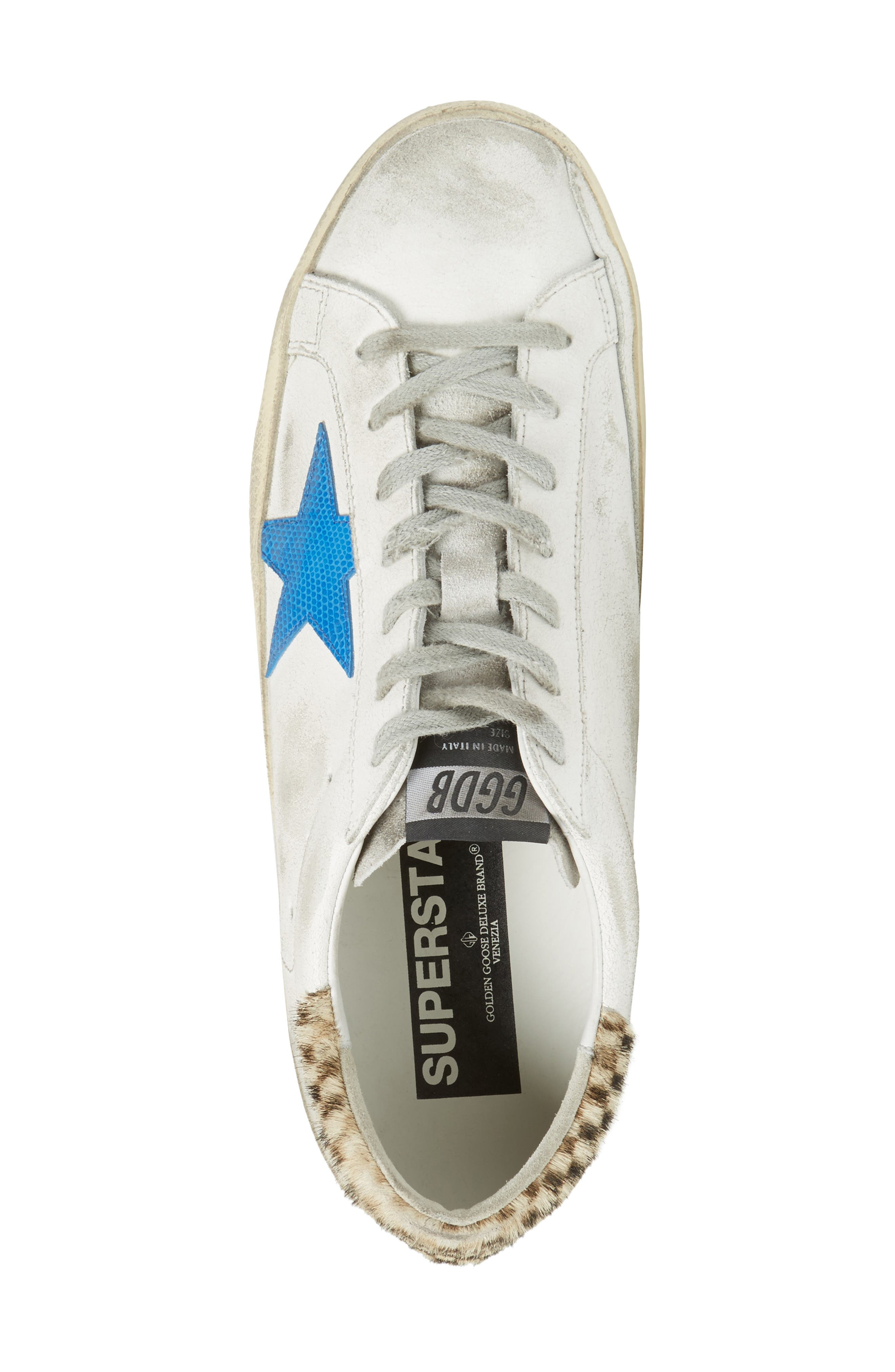 Superstar Sneaker with Genuine Calf Hair Trim,                             Alternate thumbnail 5, color,