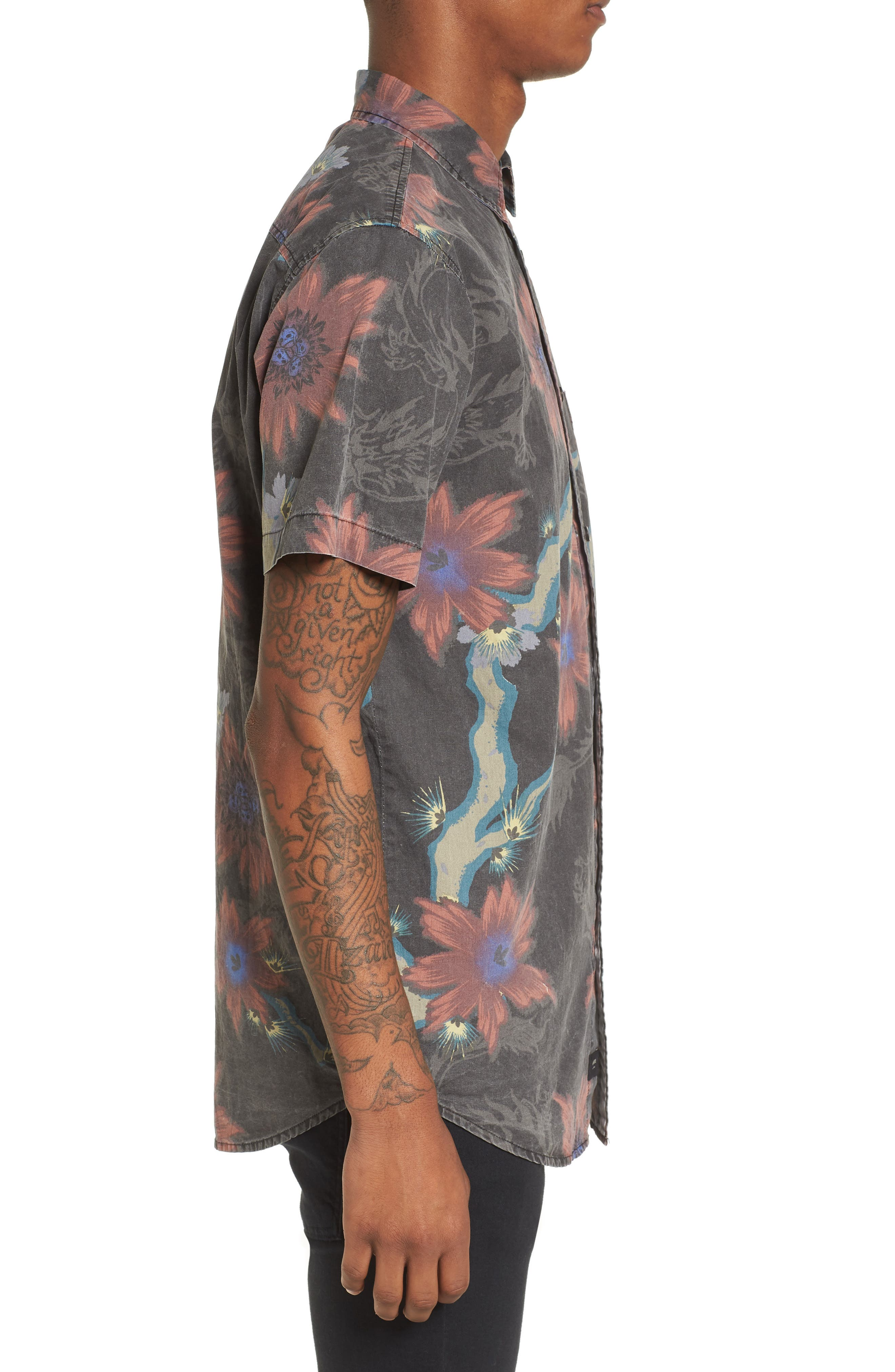 Vault Woven Shirt,                             Alternate thumbnail 3, color,                             VINTAGE BLACK
