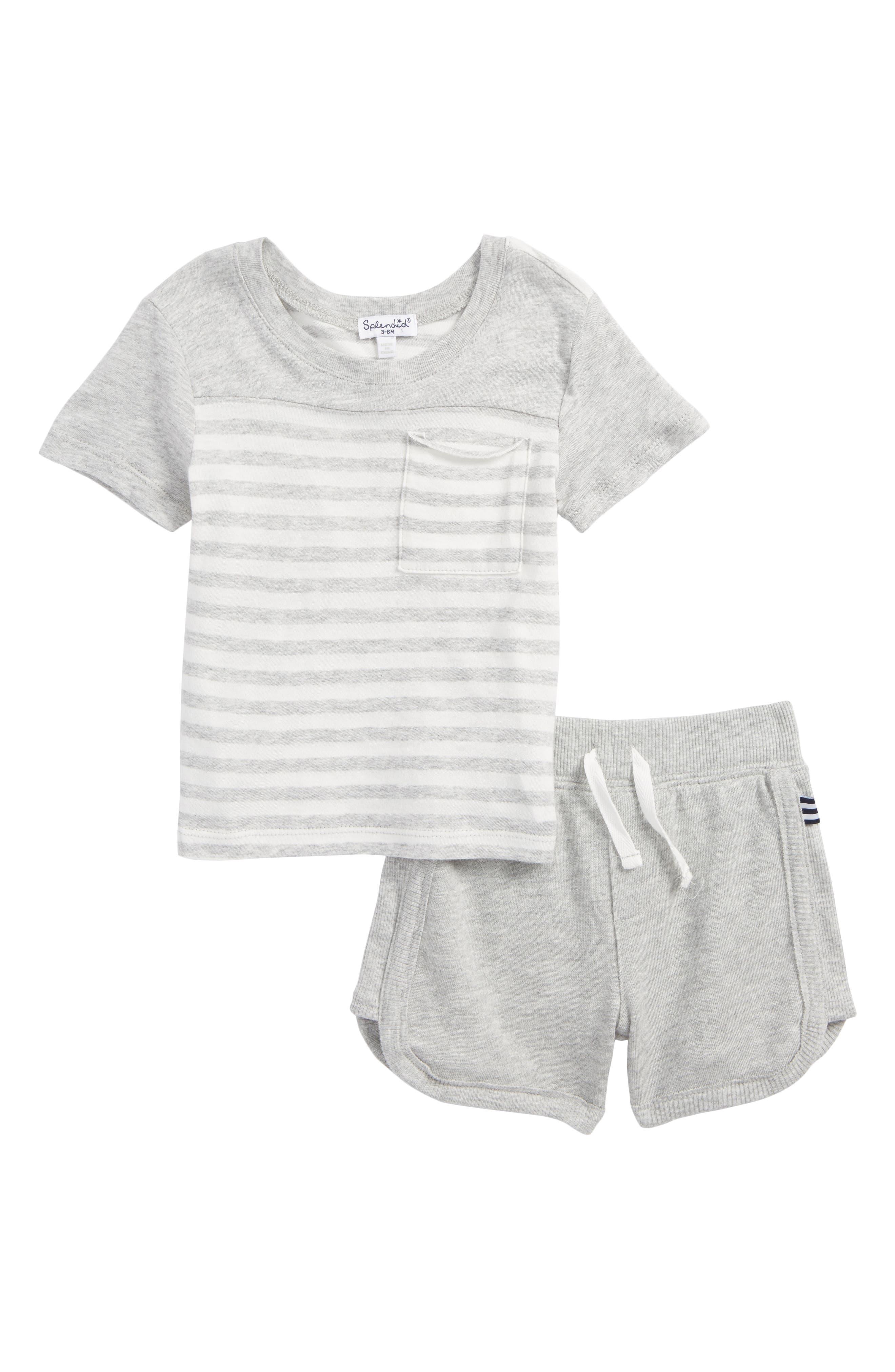 Pocket T-Shirt & Shorts Set,                             Main thumbnail 1, color,                             051