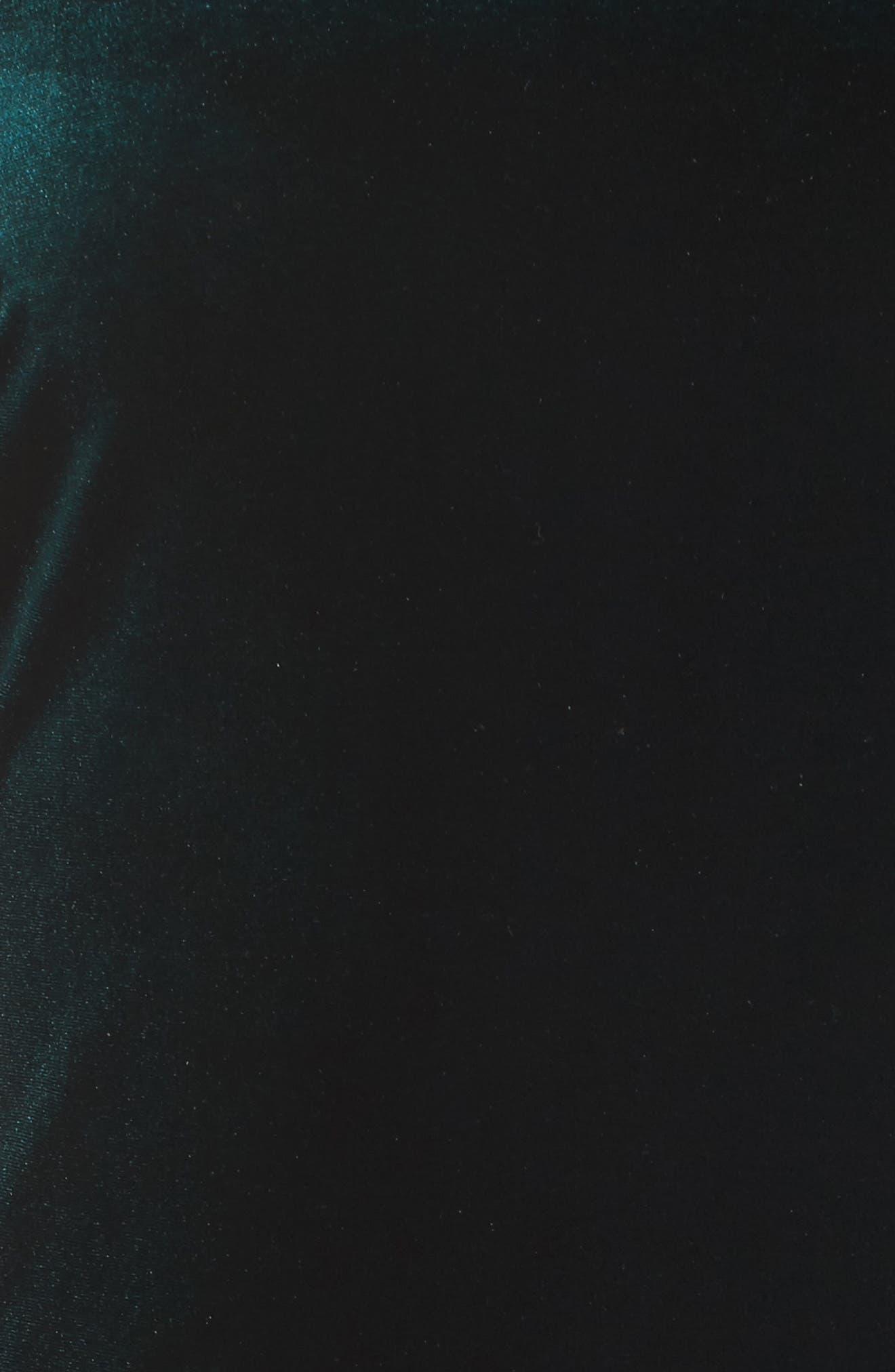 Cold Shoulder Velvet Sheath Dress,                             Alternate thumbnail 5, color,                             302