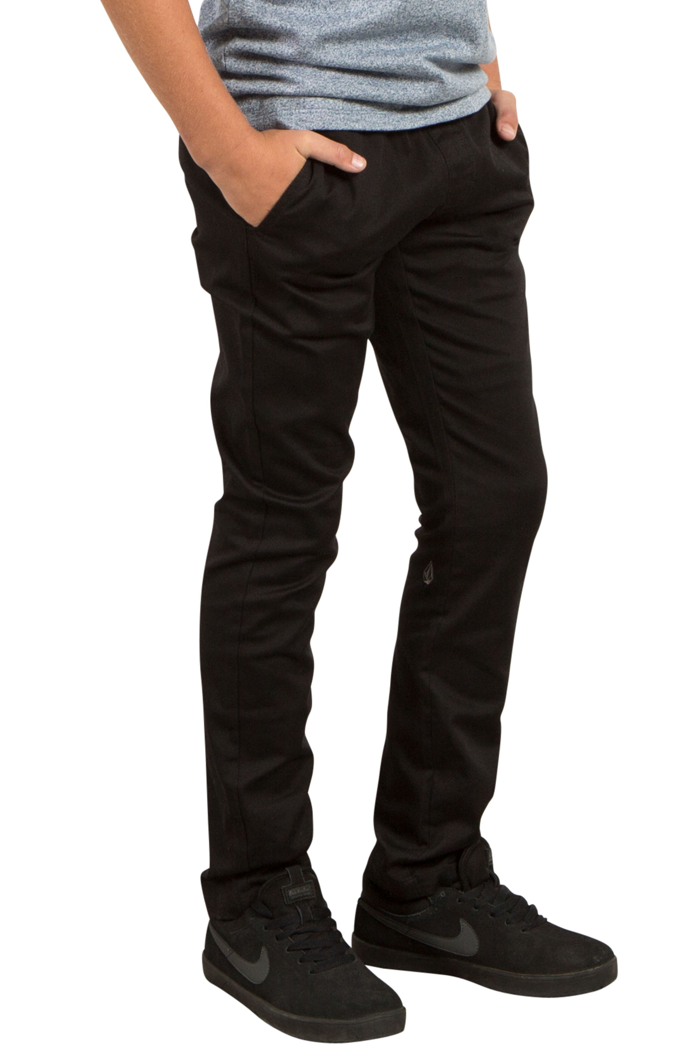 Slim Fit Stretch Chinos,                             Alternate thumbnail 5, color,                             001