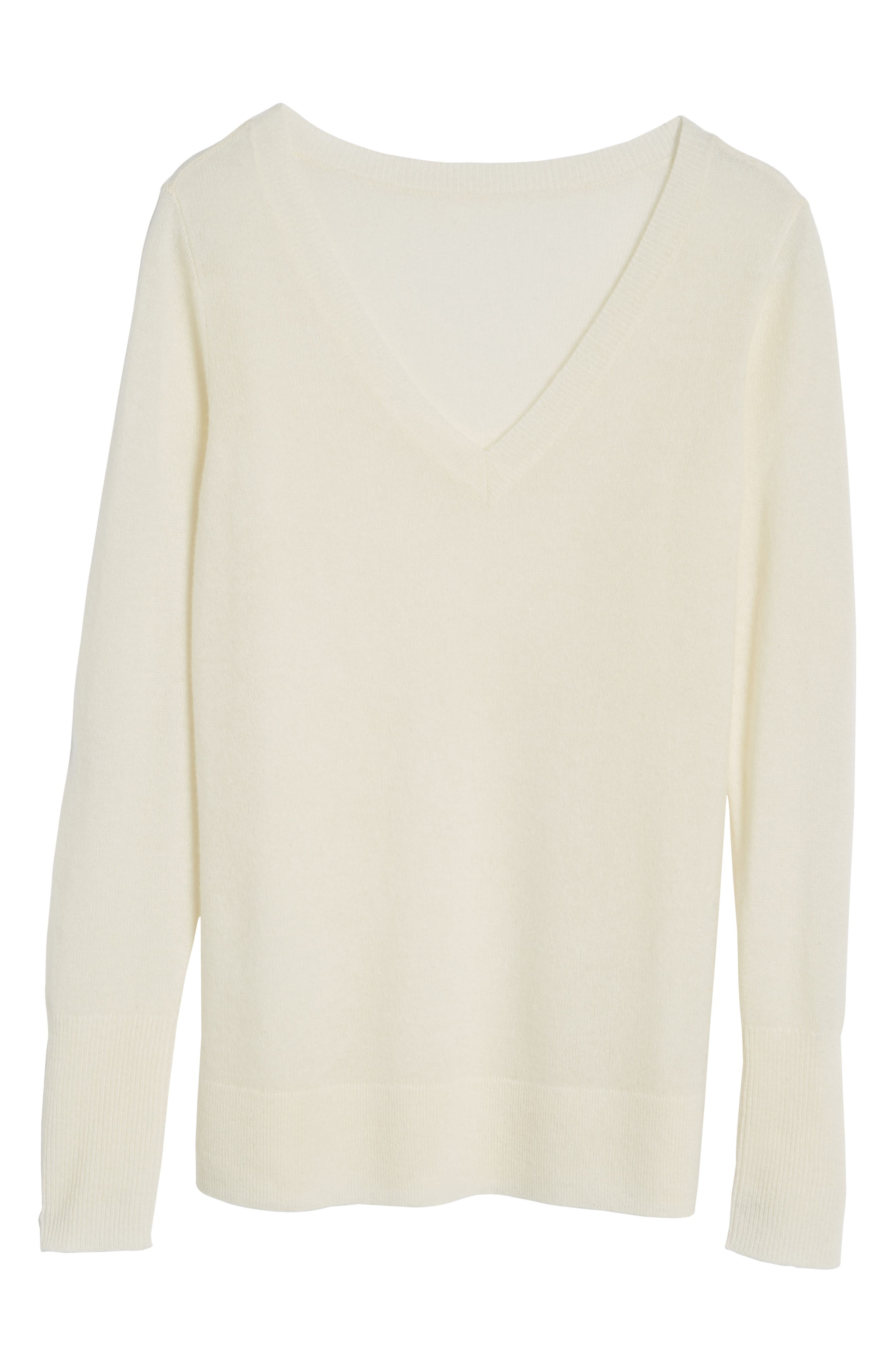 V-Neck Cashmere Sweater,                             Alternate thumbnail 95, color,