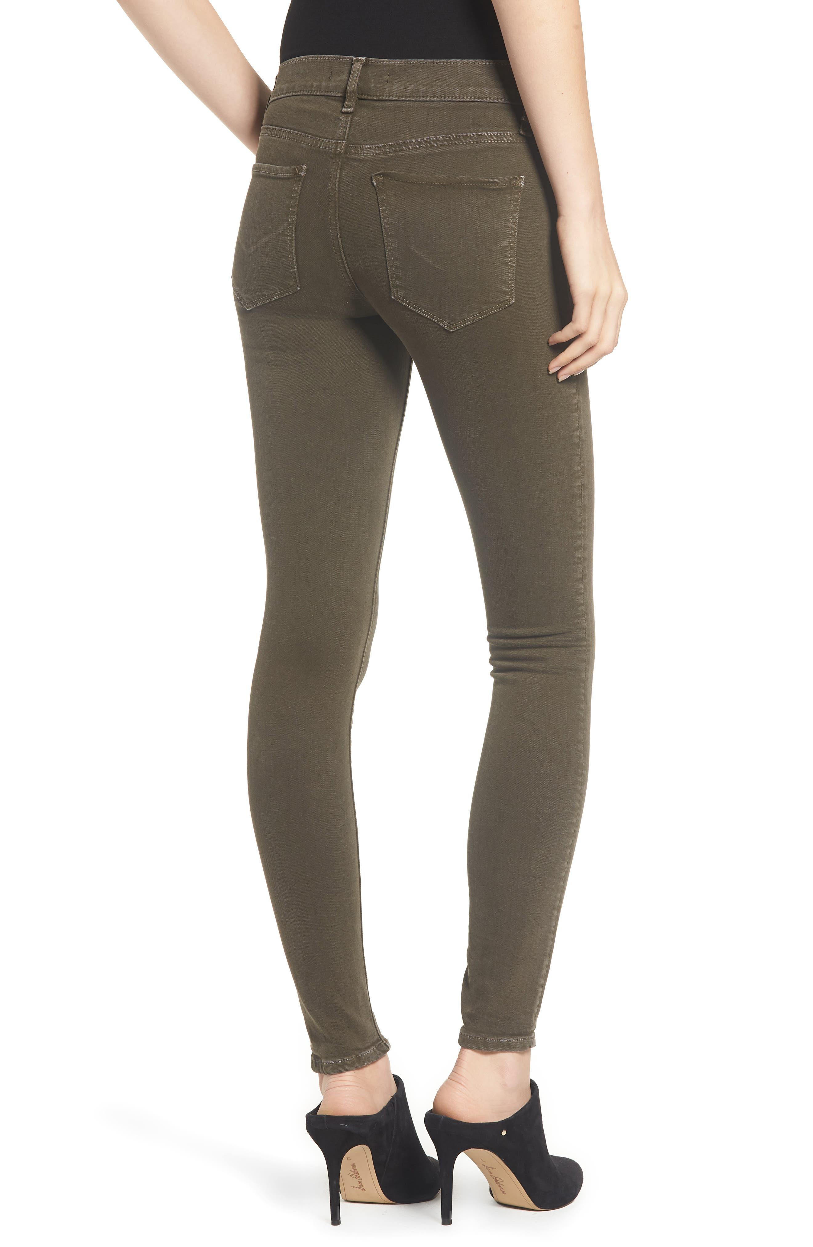 HudsonJeans Nico Super Skinny Jeans,                             Alternate thumbnail 2, color,                             DISTRESSED DARK FORESTER