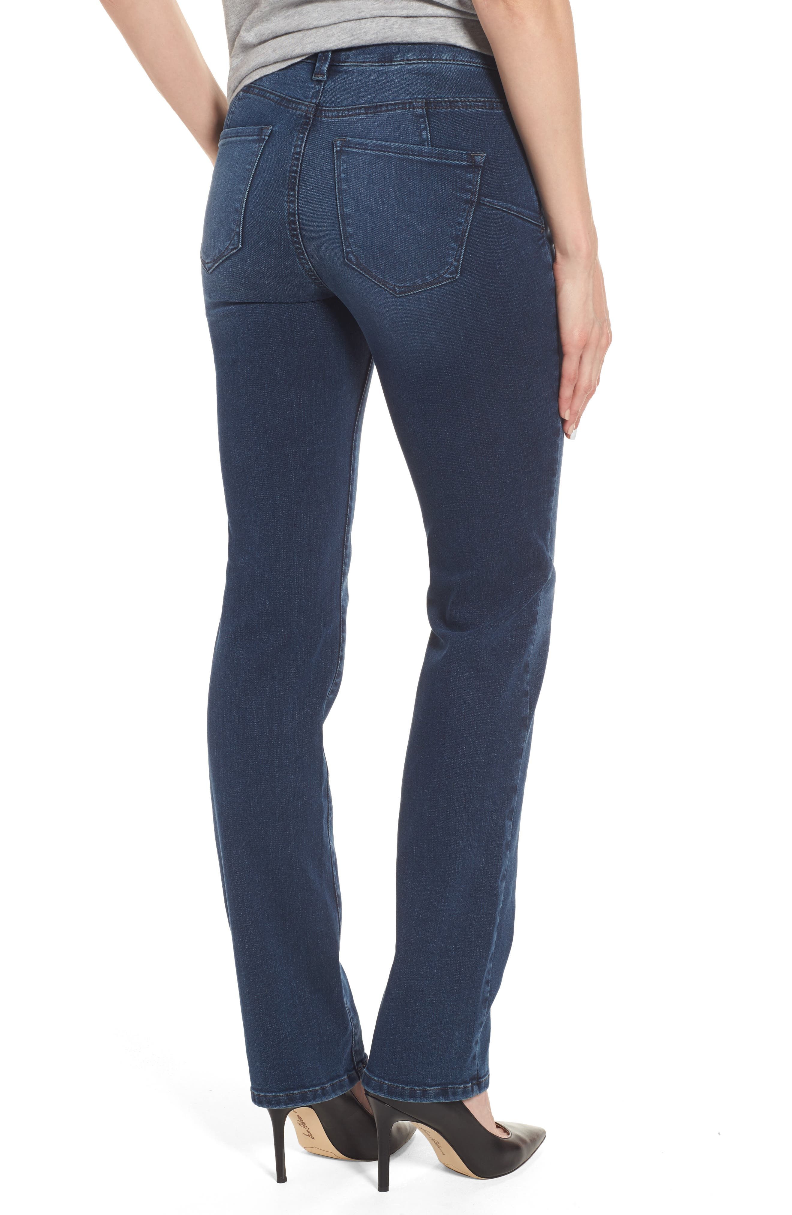 Marilyn Stretch Straight Leg Jeans,                             Alternate thumbnail 2, color,                             406
