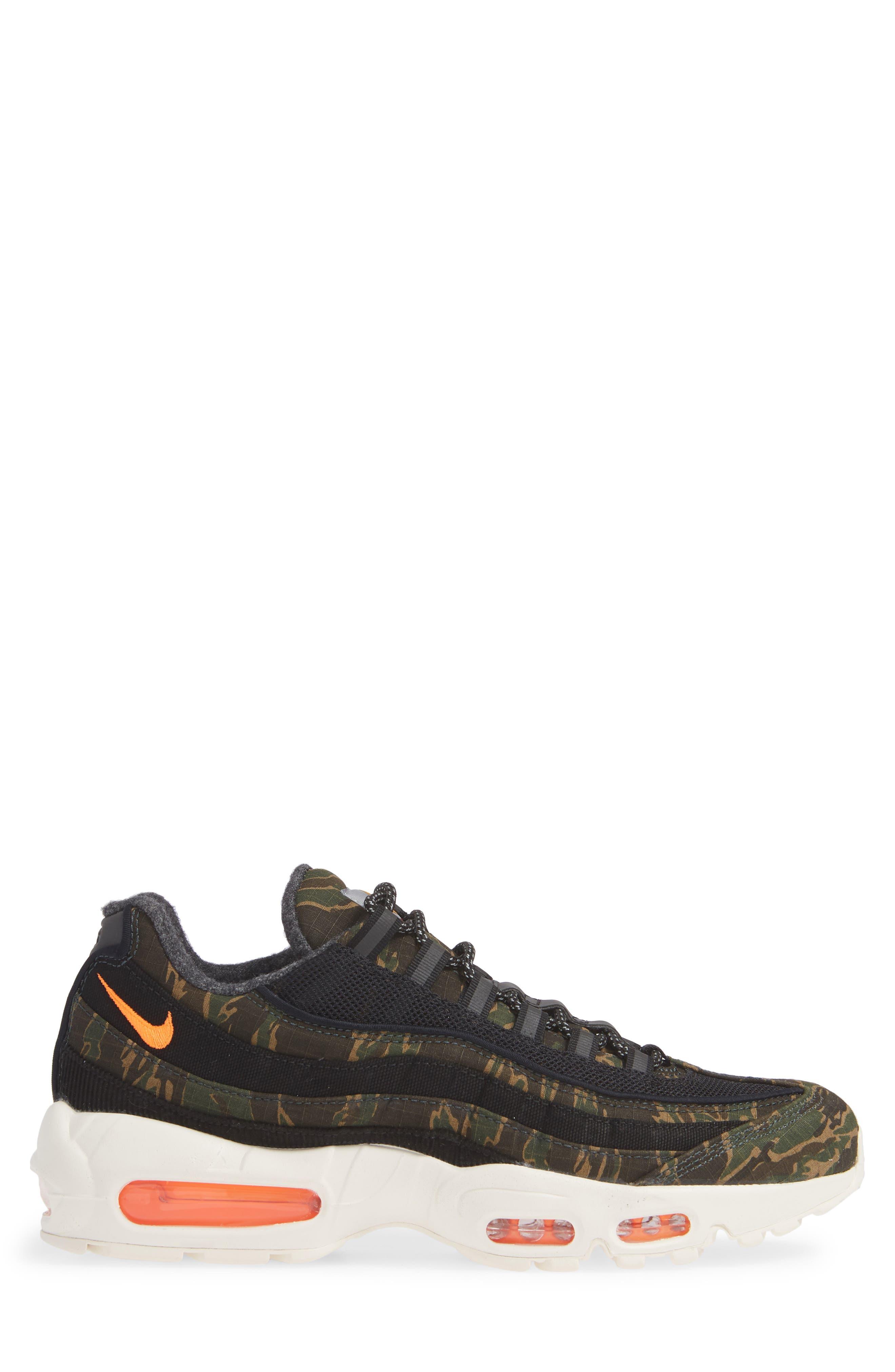 NIKE,                             x Carhartt Air Max 95 WIP Sneaker,                             Alternate thumbnail 3, color,                             001