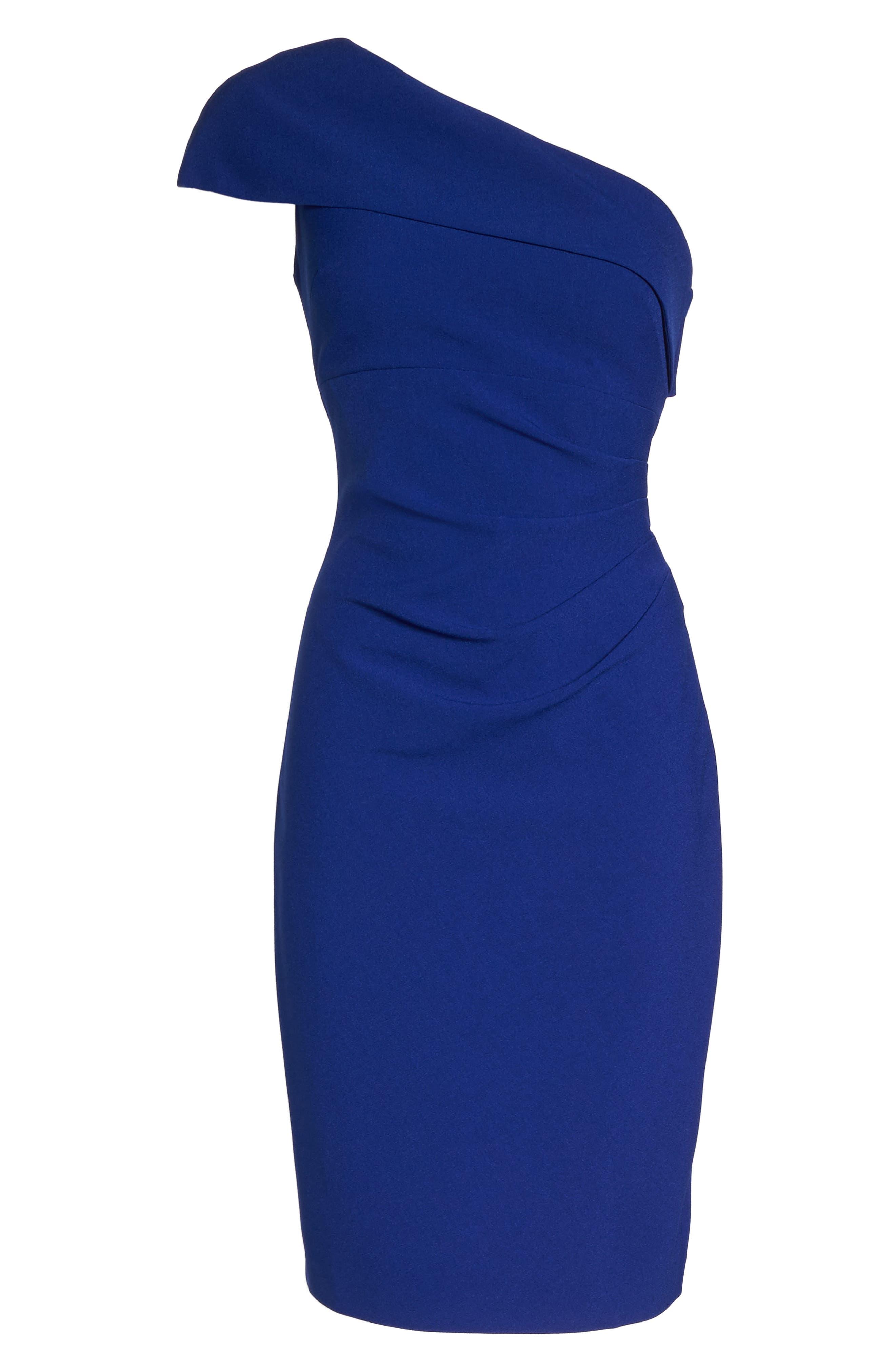 One-Shoulder Sheath Dress,                             Alternate thumbnail 6, color,