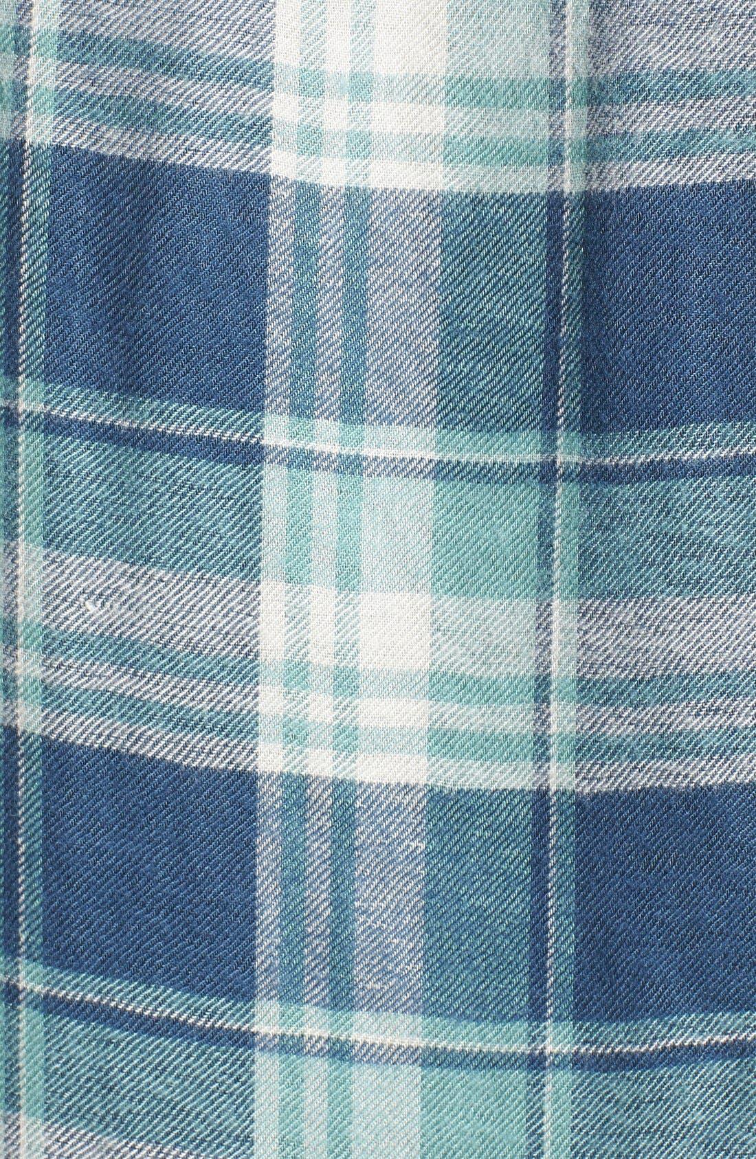 PAIGE,                             Denim 'Trudy' Plaid Shirt,                             Alternate thumbnail 5, color,                             423