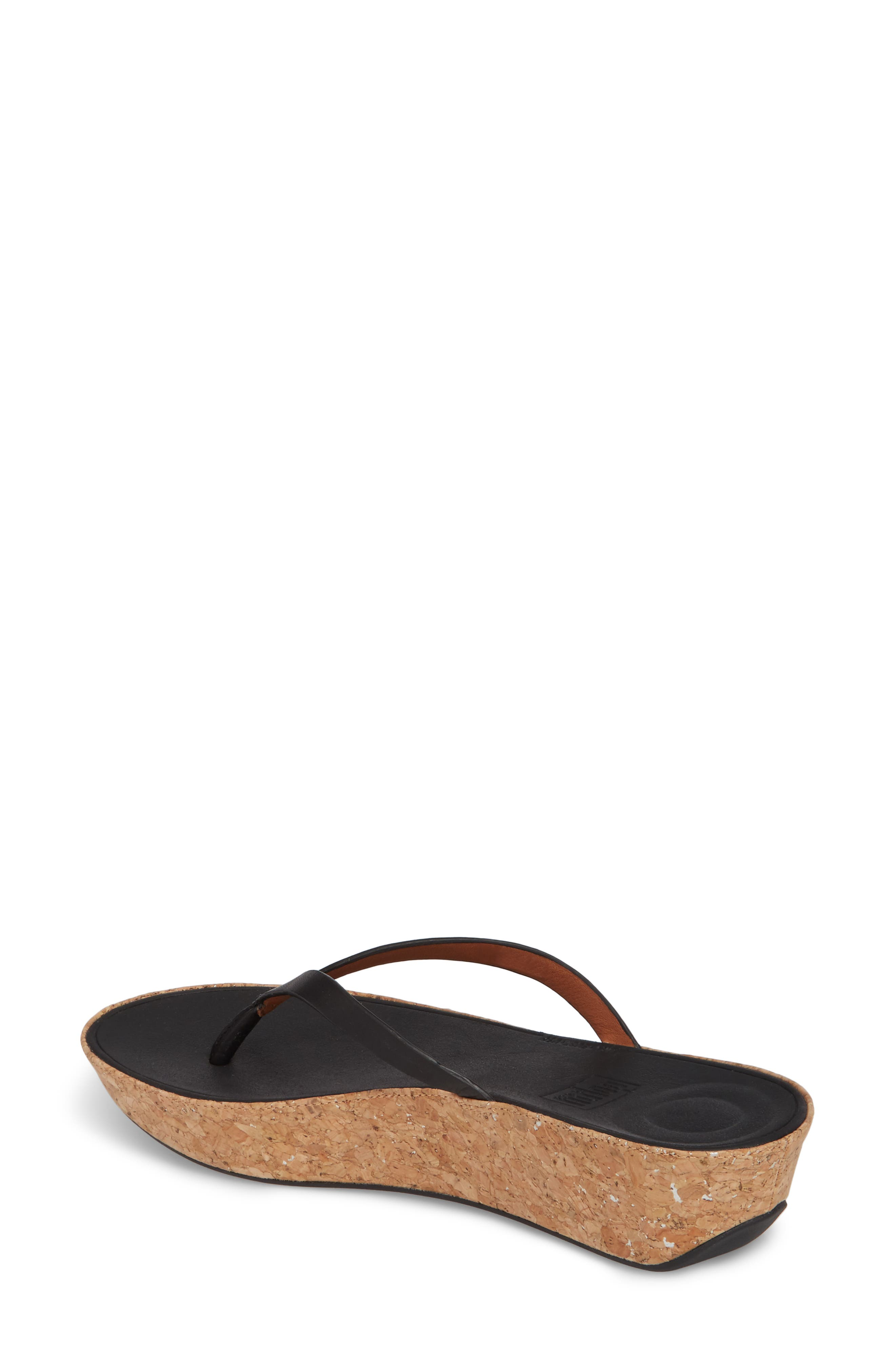 FITFLOP,                             Linny Wedge Flip Flop,                             Alternate thumbnail 2, color,                             001