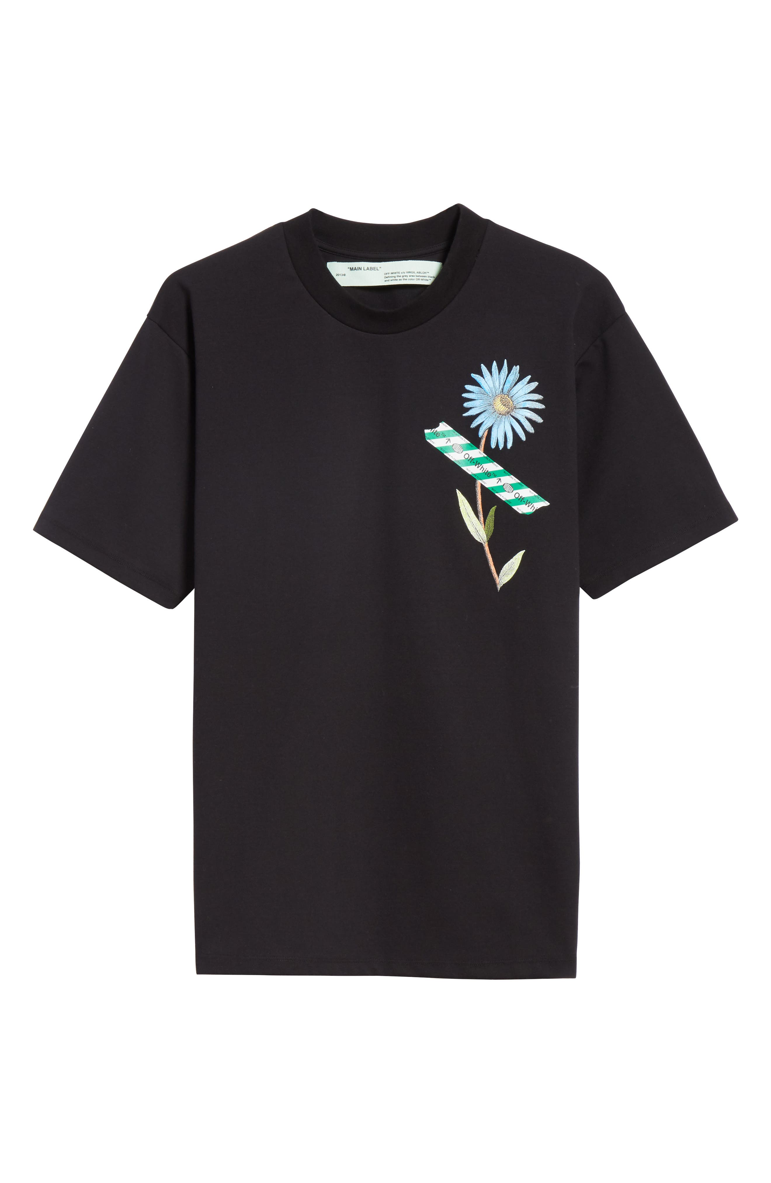 Flower Shop Tee,                             Alternate thumbnail 6, color,                             001