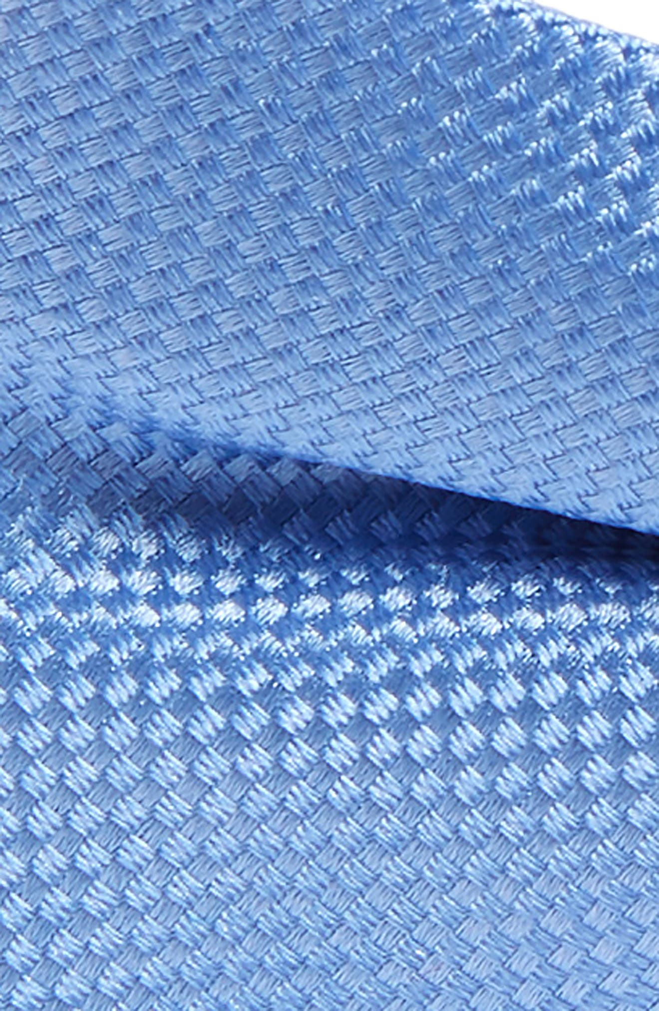 Solid Silk Bow Tie,                             Alternate thumbnail 2, color,                             LIGHT BLUE