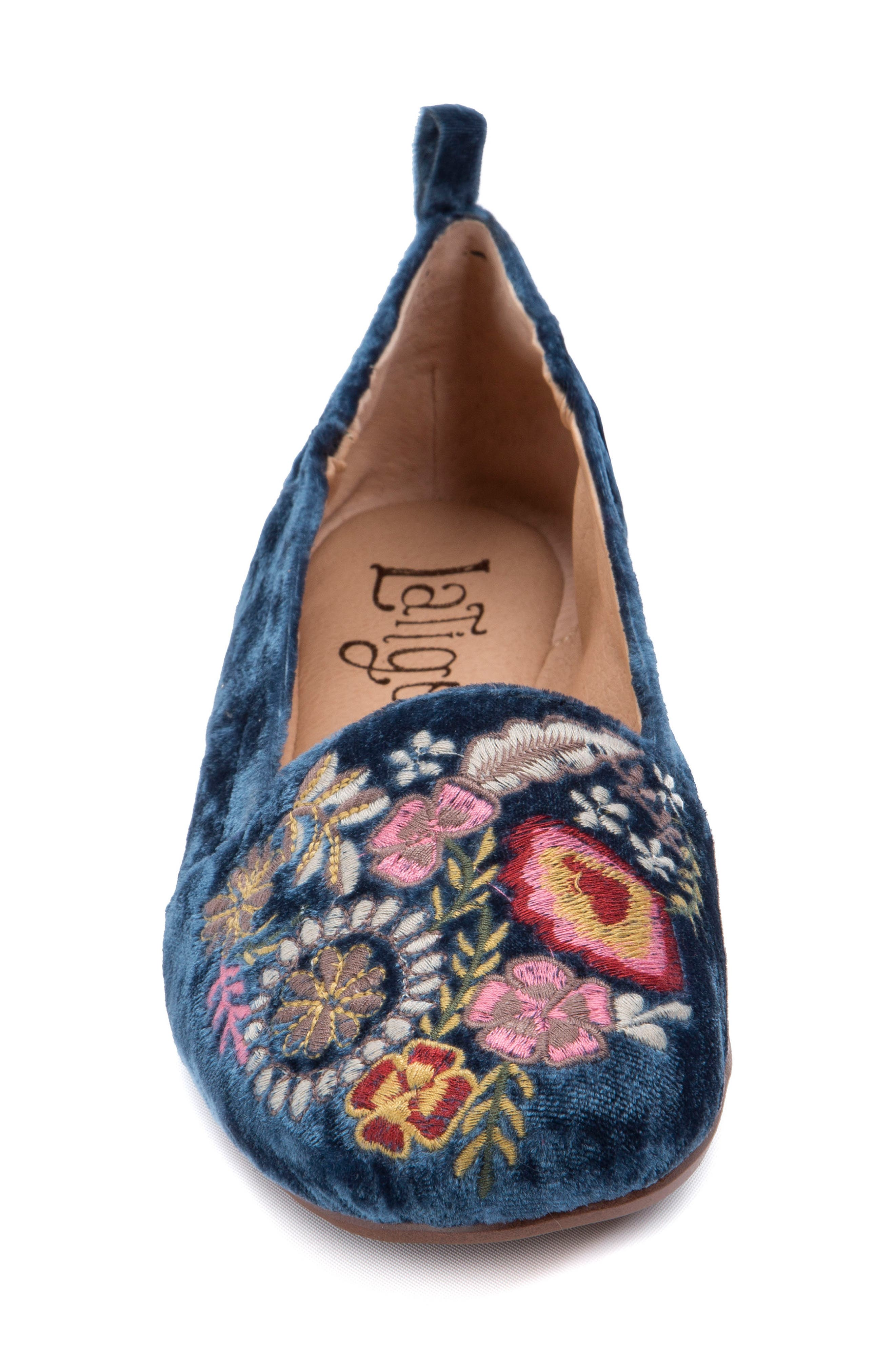 Gayla Floral Embroidered Flat,                             Alternate thumbnail 10, color,