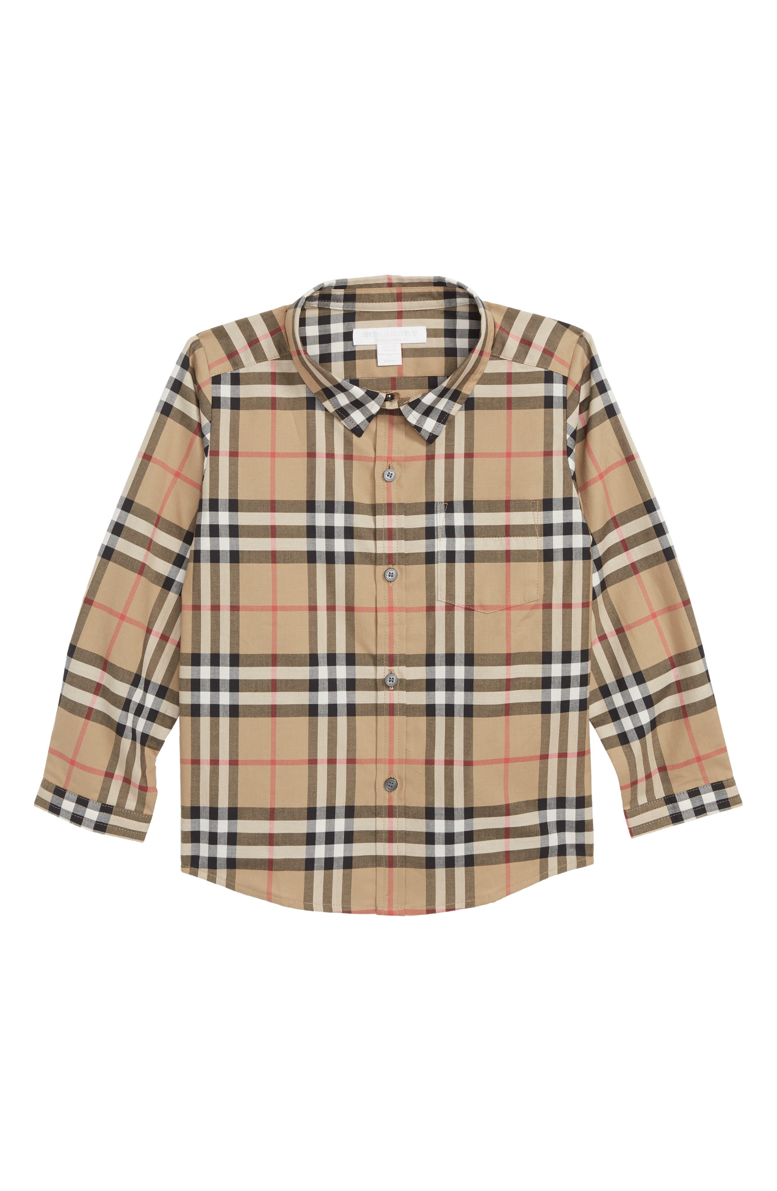 Fred Check Shirt,                             Main thumbnail 1, color,                             ANTIQUE YELLOW