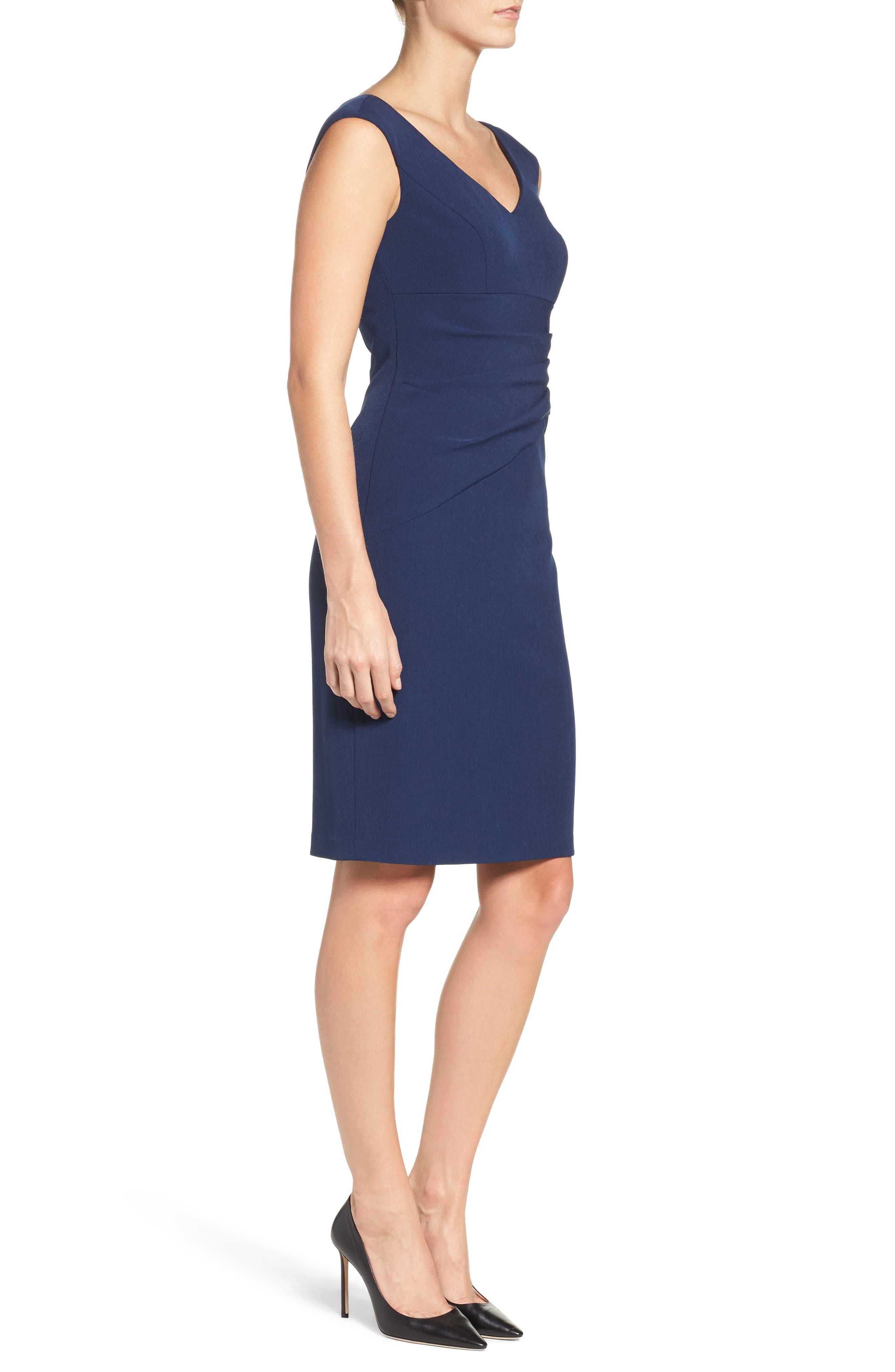 Crepe Sheath Dress,                             Alternate thumbnail 5, color,