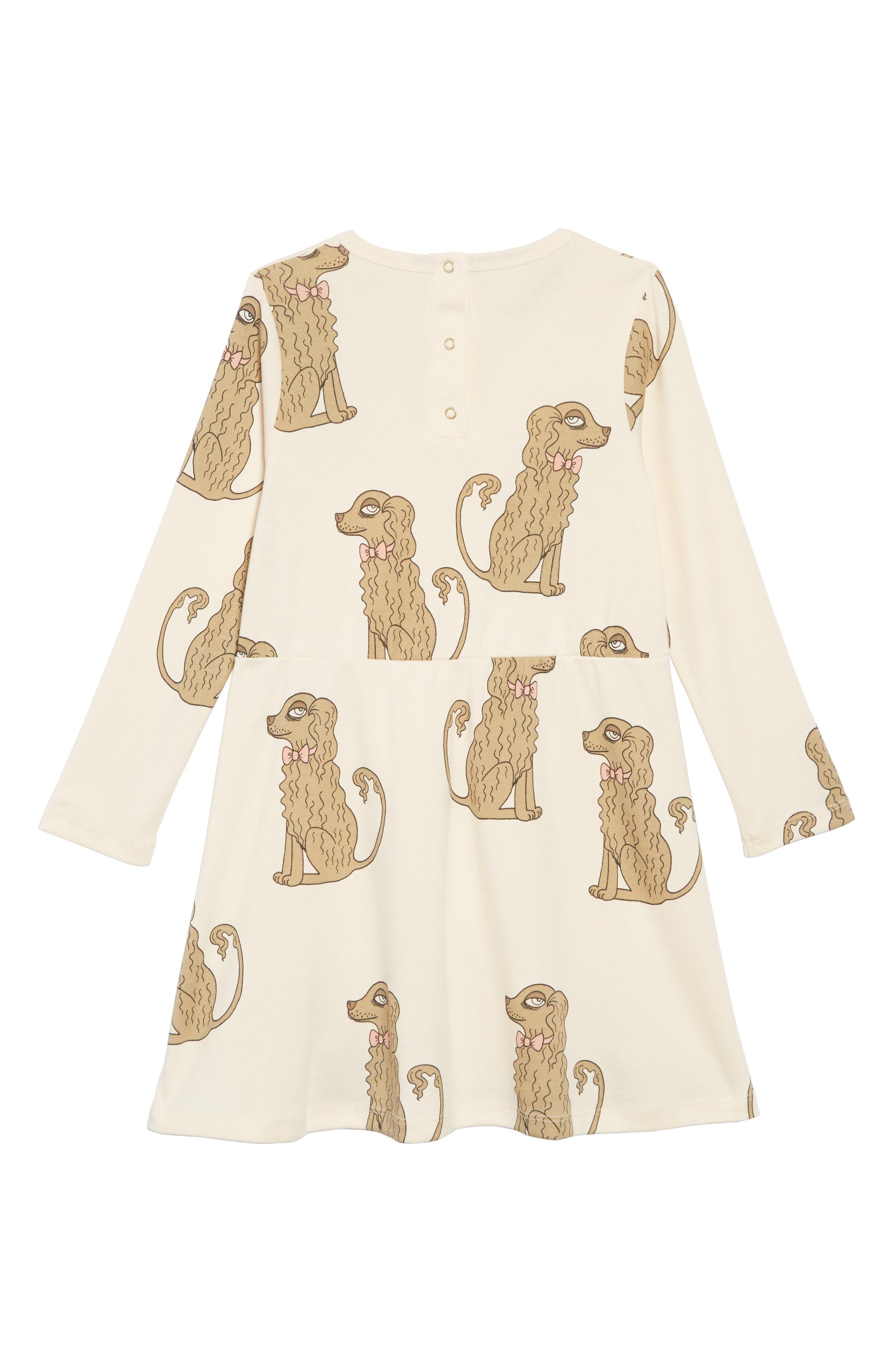 Spaniel Organic Cotton Dress,                             Alternate thumbnail 2, color,                             OFF WHITE
