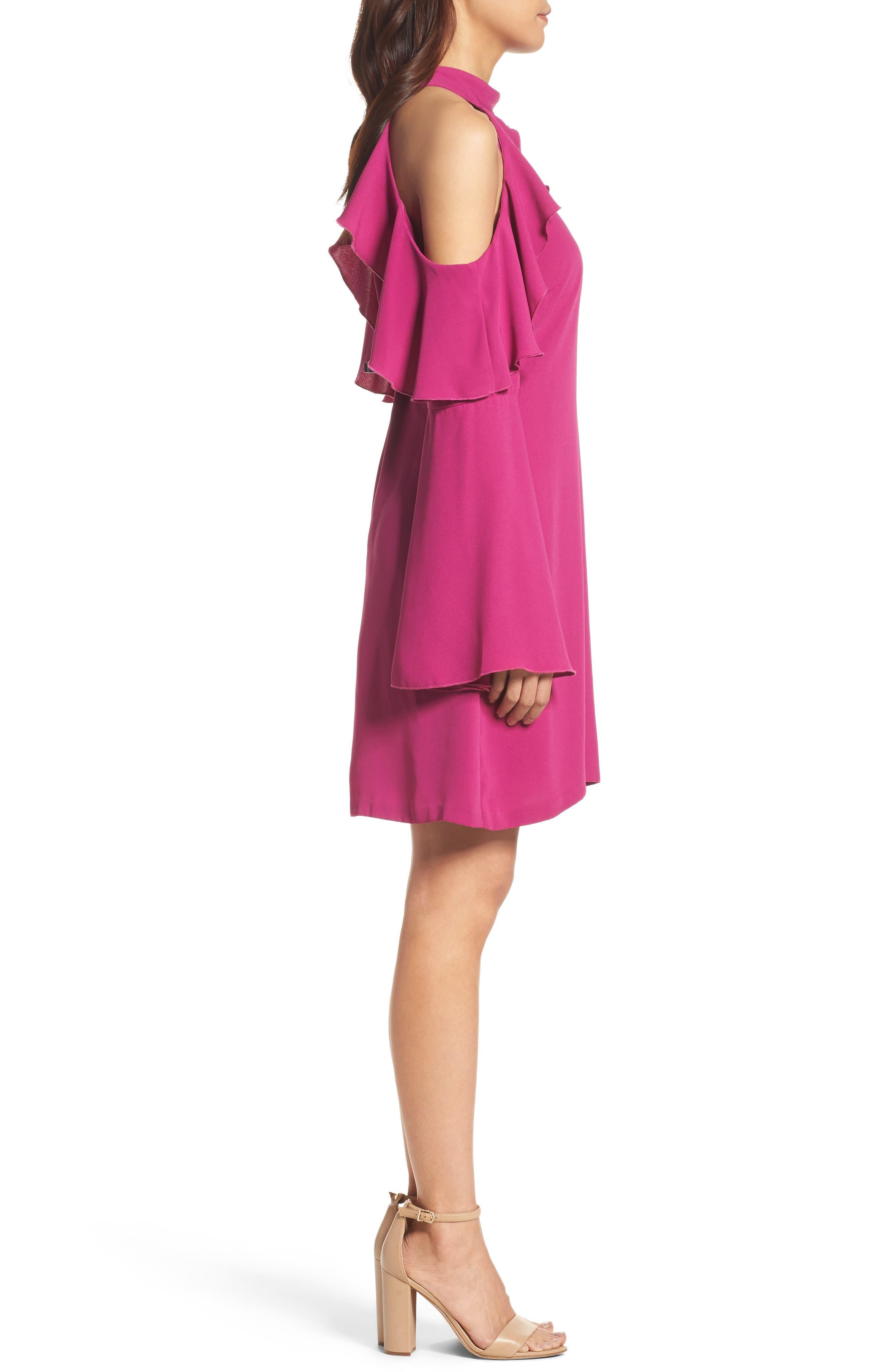 Sydney Cold Shoulder Dress,                             Alternate thumbnail 6, color,