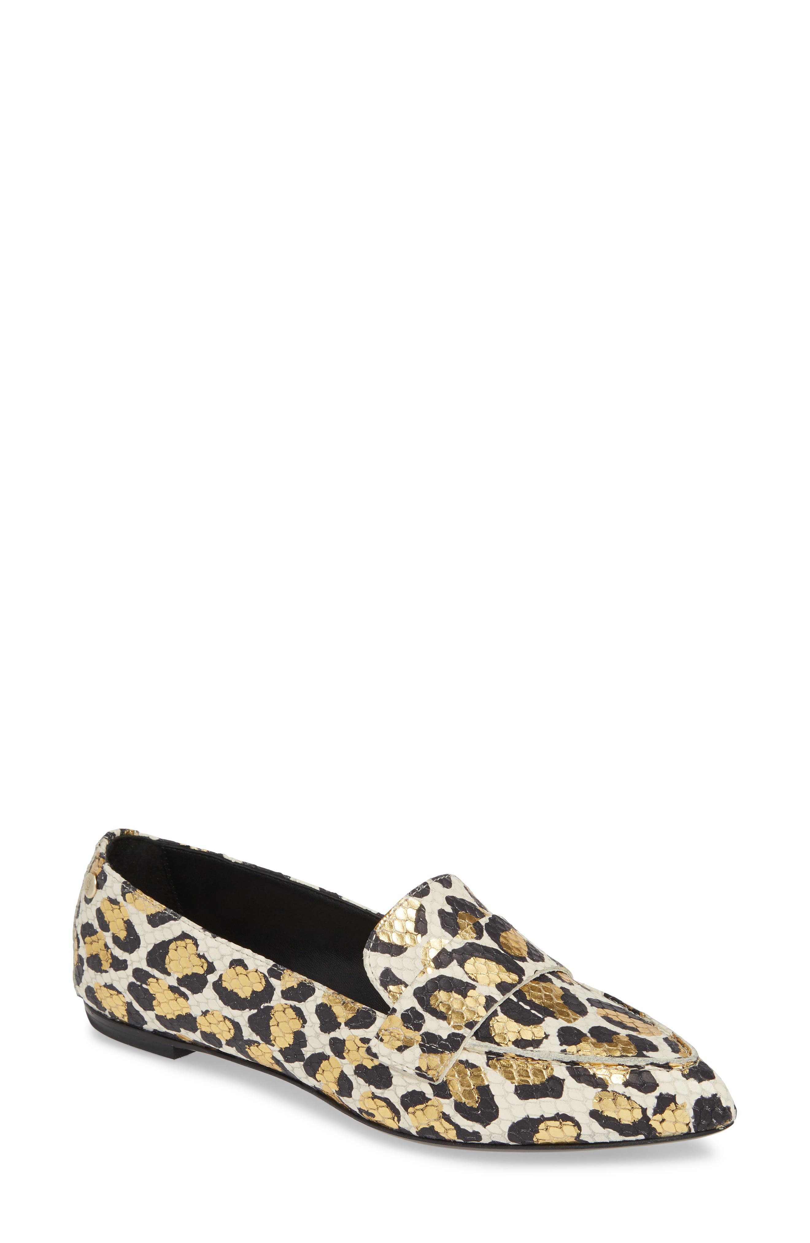 Softy Pointy Toe Moccasin Loafer, Main, color, 101