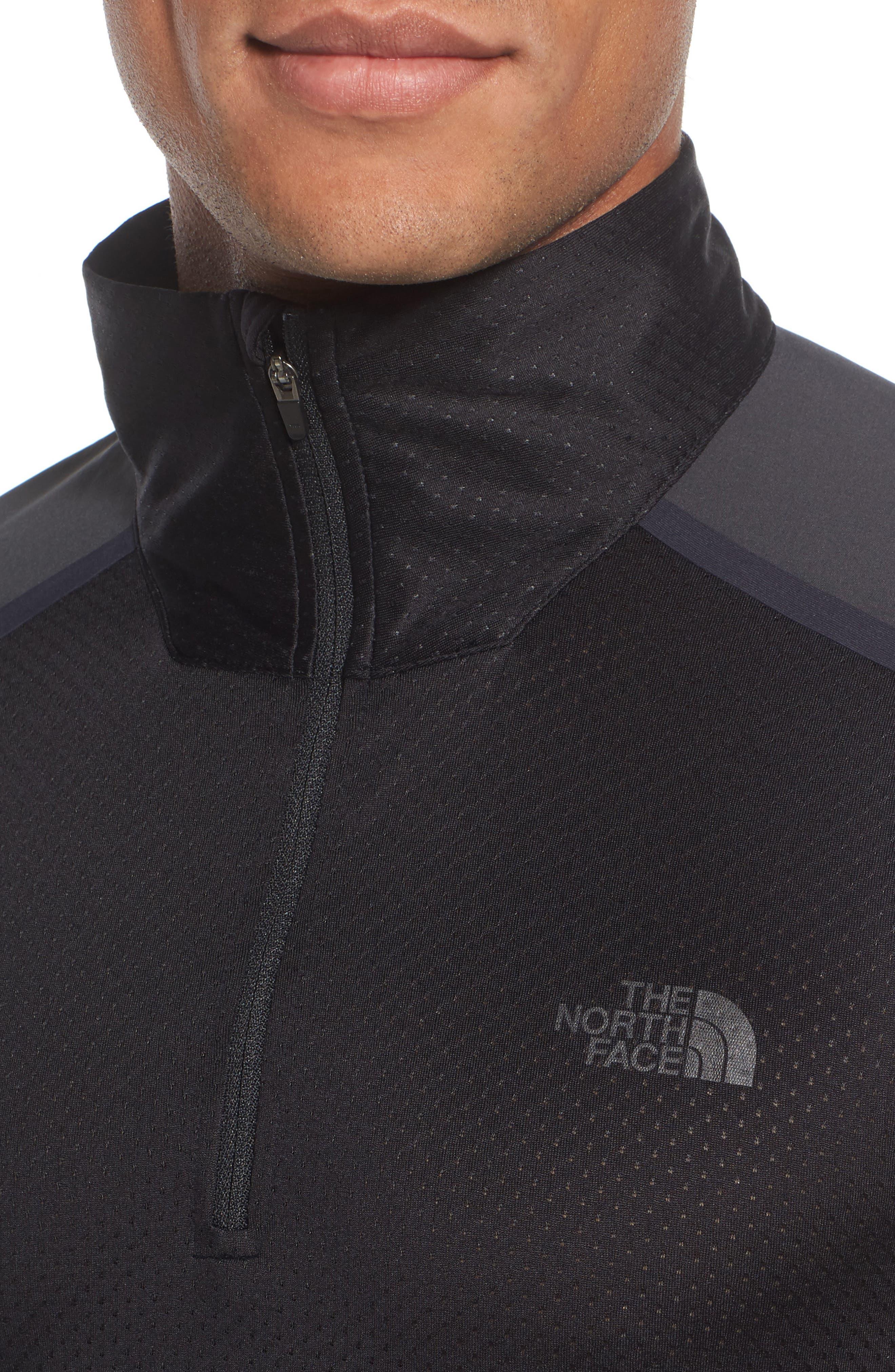 'Kilowatt' Quarter Zip Training Pullover,                             Alternate thumbnail 4, color,                             001